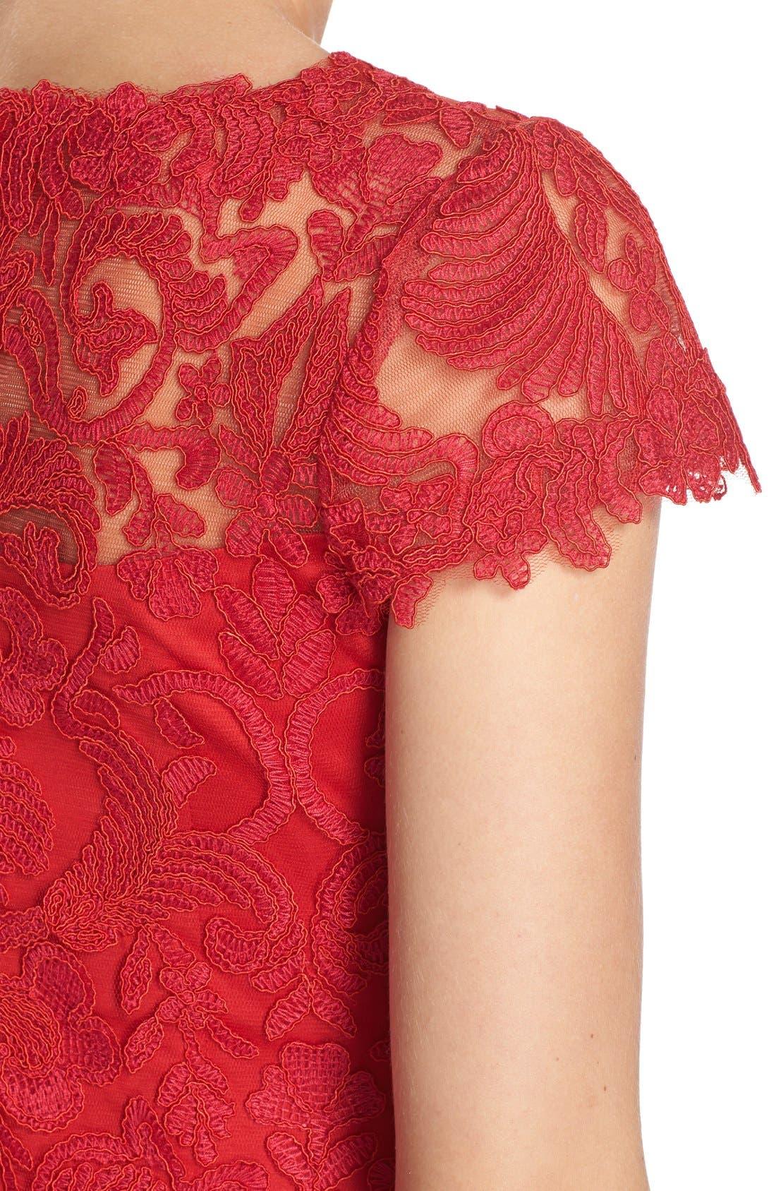 Illusion Yoke Lace Sheath Dress,                             Alternate thumbnail 38, color,