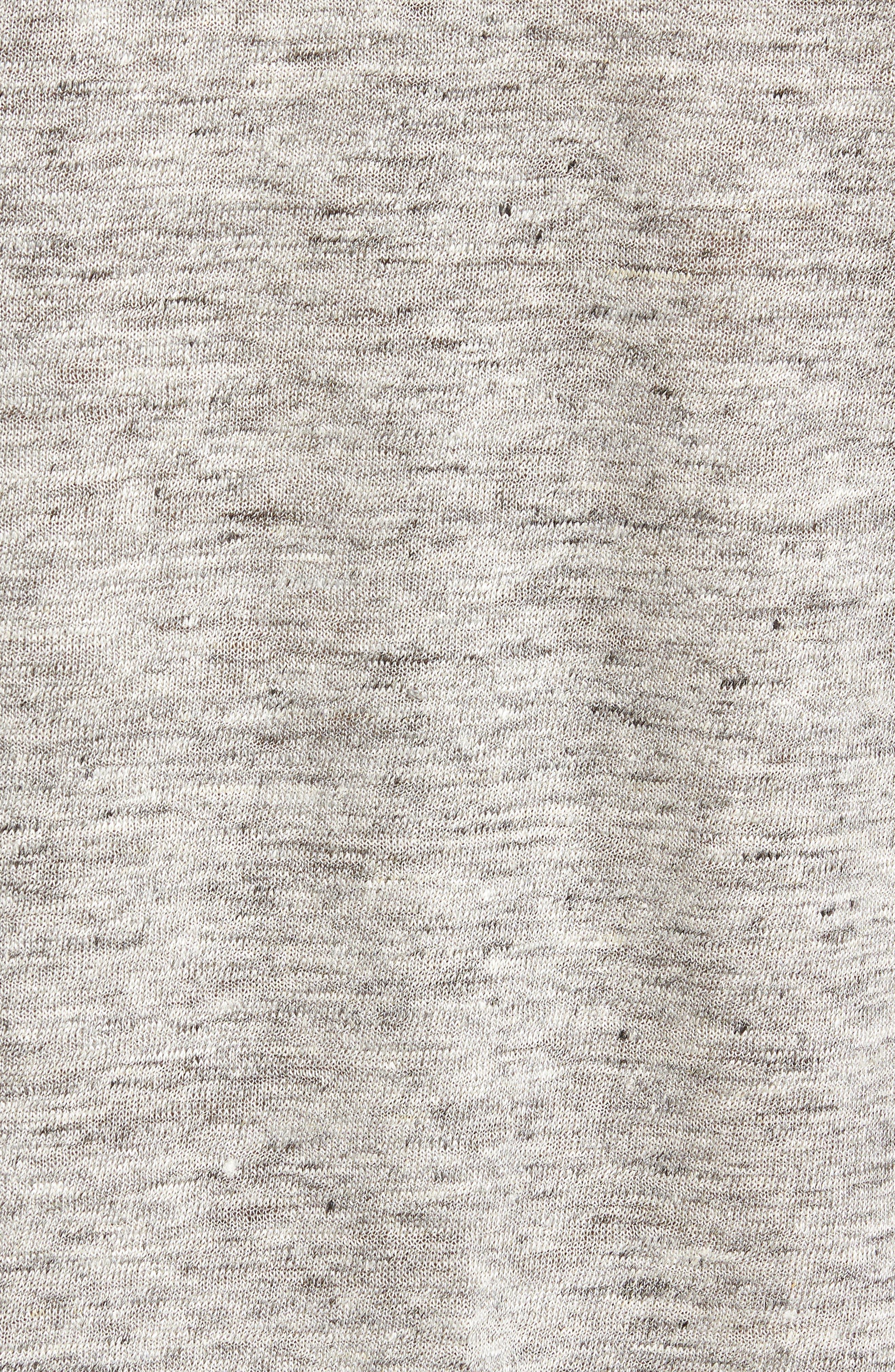 John Varvatos x Nick Jonas Linen T-Shirt,                             Alternate thumbnail 5, color,                             LIGHT GREY HEATHER