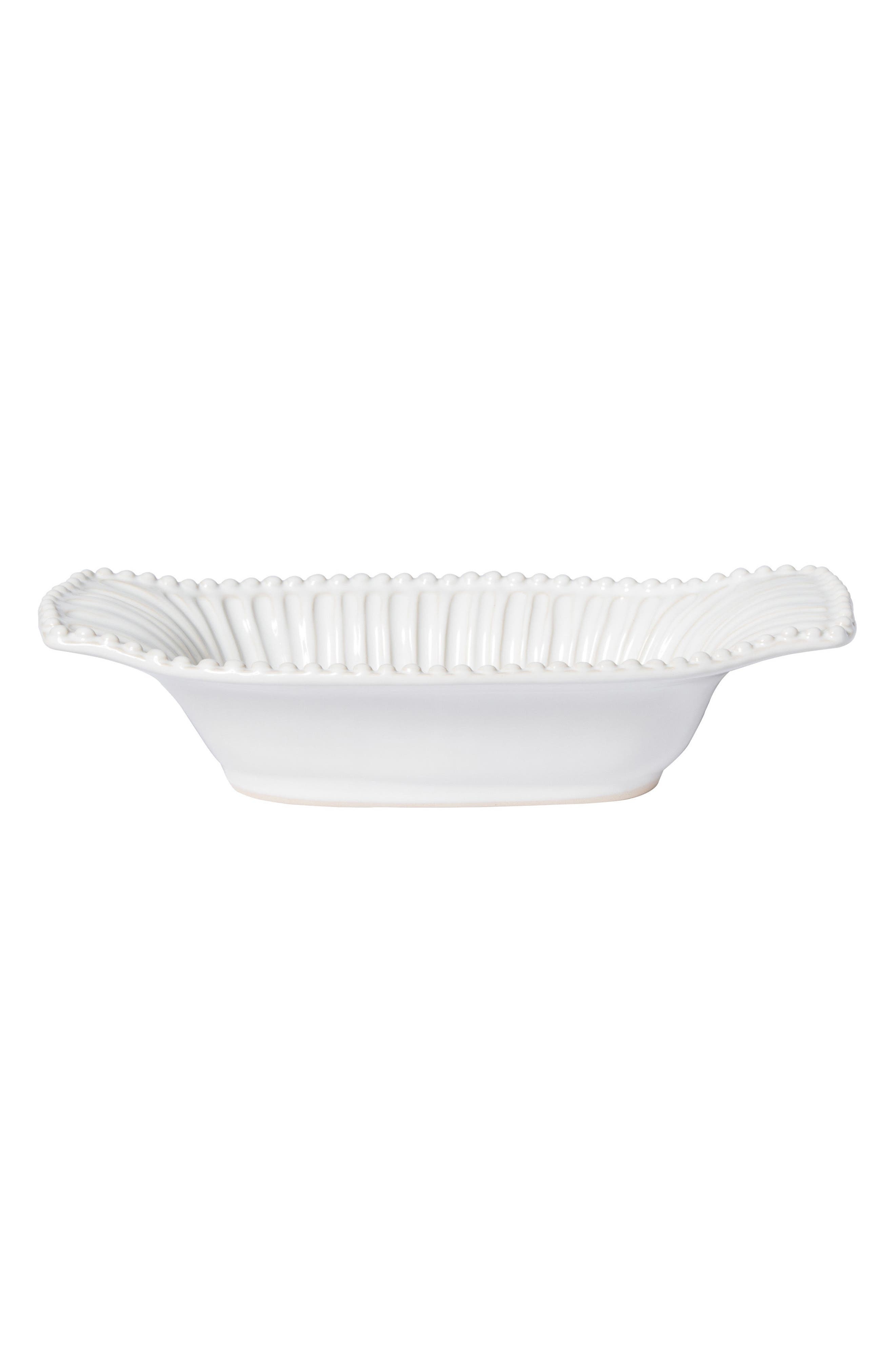 VIETRI,                             Incanto Stone Au Gratin Dish,                             Main thumbnail 1, color,                             WHITE - SMALL