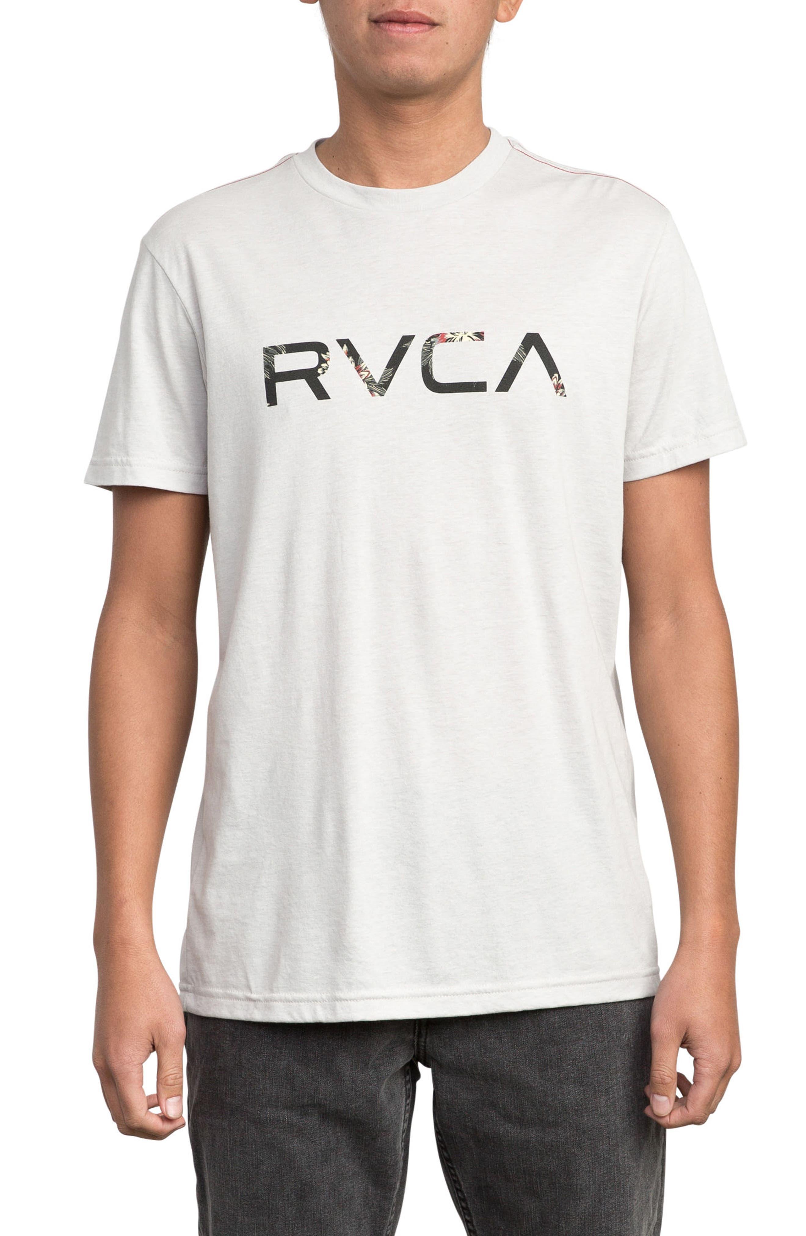 McFloral T-Shirt,                         Main,                         color, WARM GREY