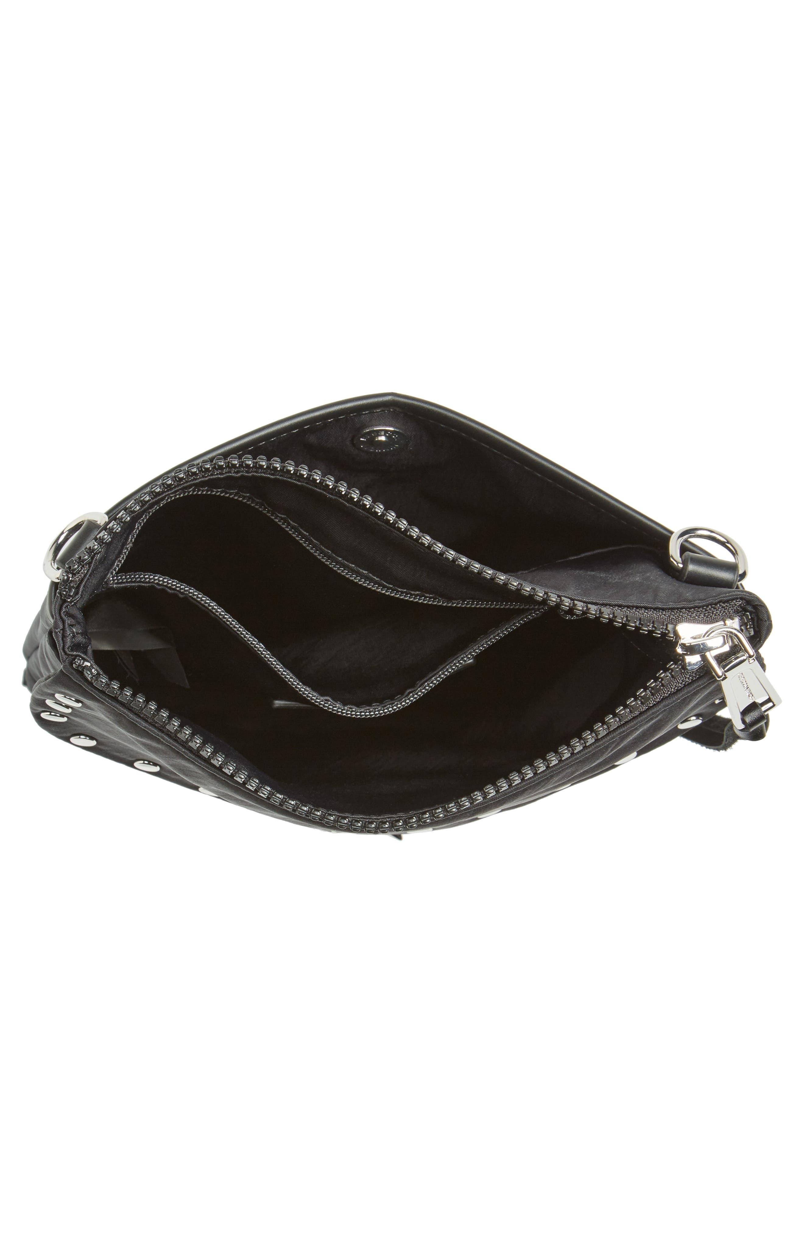 Nylon Flap Crossbody Bag,                             Alternate thumbnail 4, color,                             001