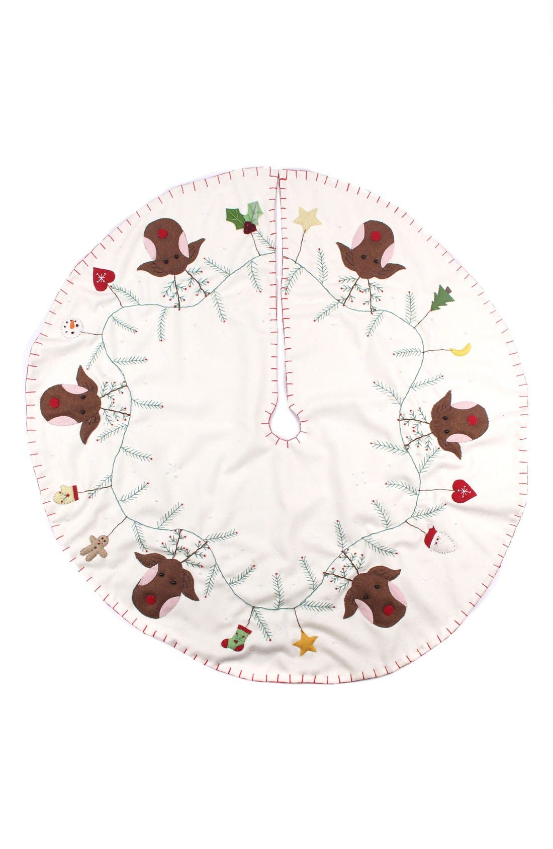 Reindeer Tree Skirt,                             Main thumbnail 2, color,