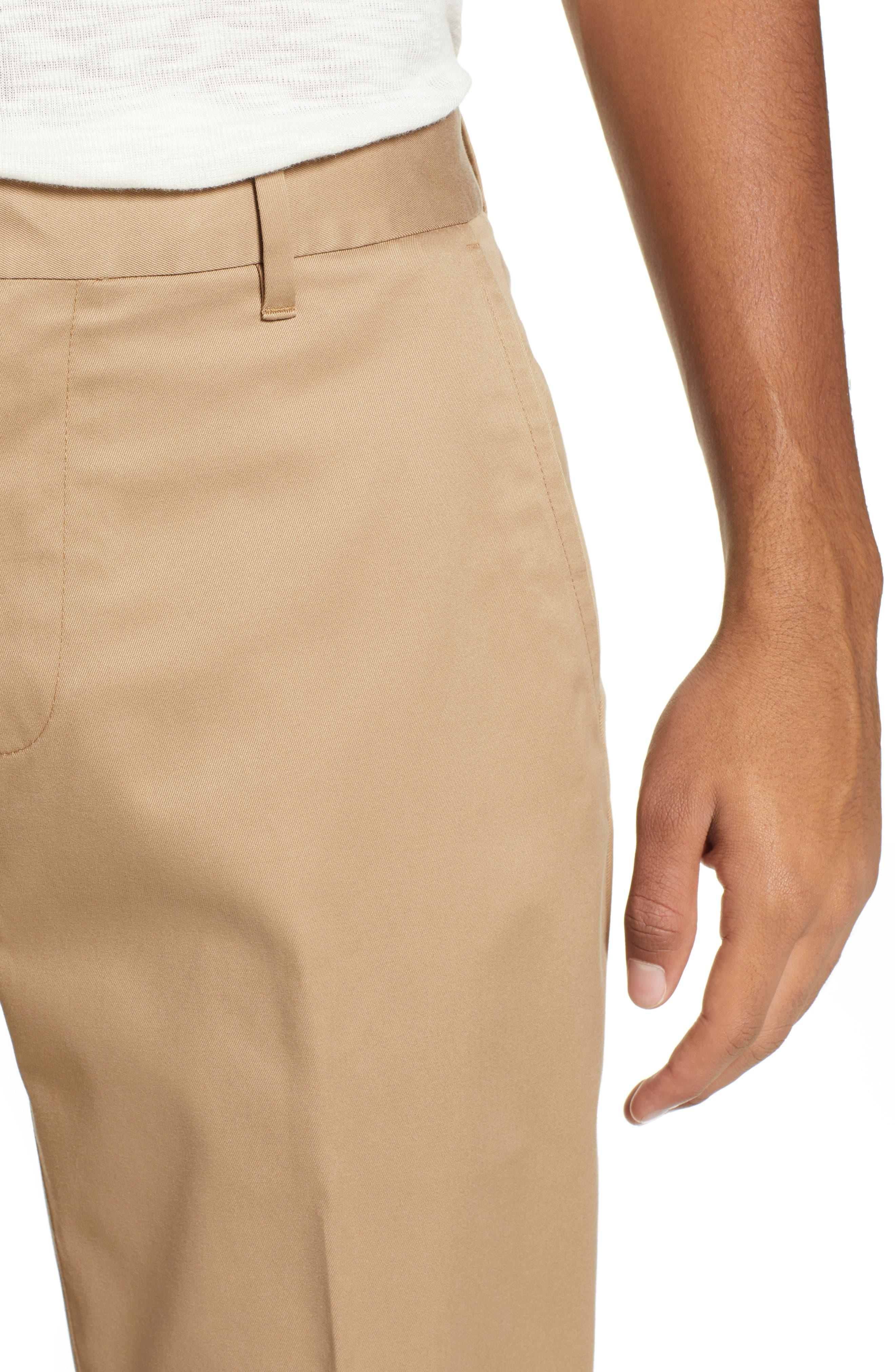 BONOBOS,                             Weekday Warrior Straight Leg Stretch Dress Pants,                             Alternate thumbnail 4, color,                             KHAKI TAN