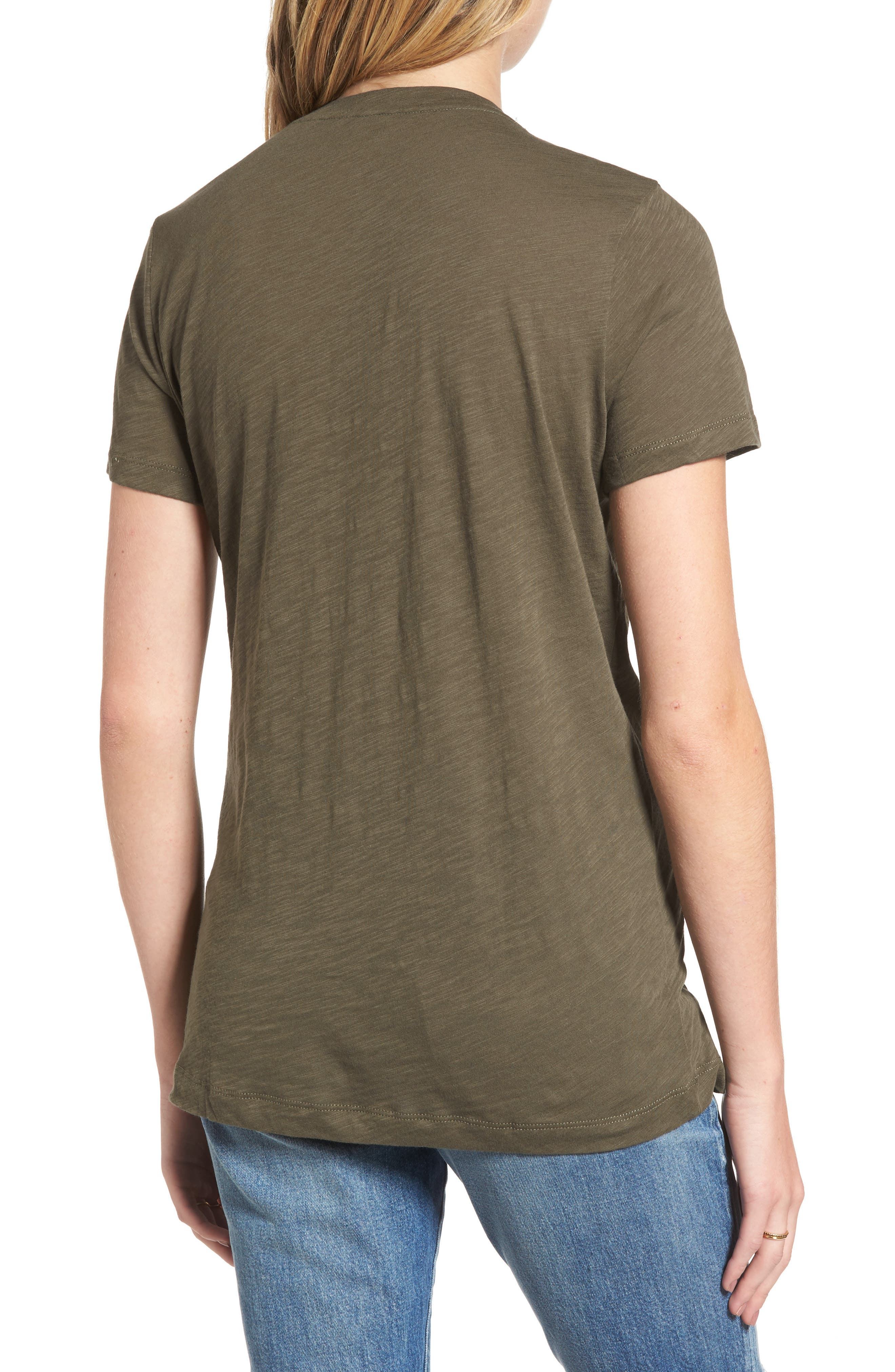 Whisper Cotton V-Neck Pocket Tee,                             Alternate thumbnail 45, color,