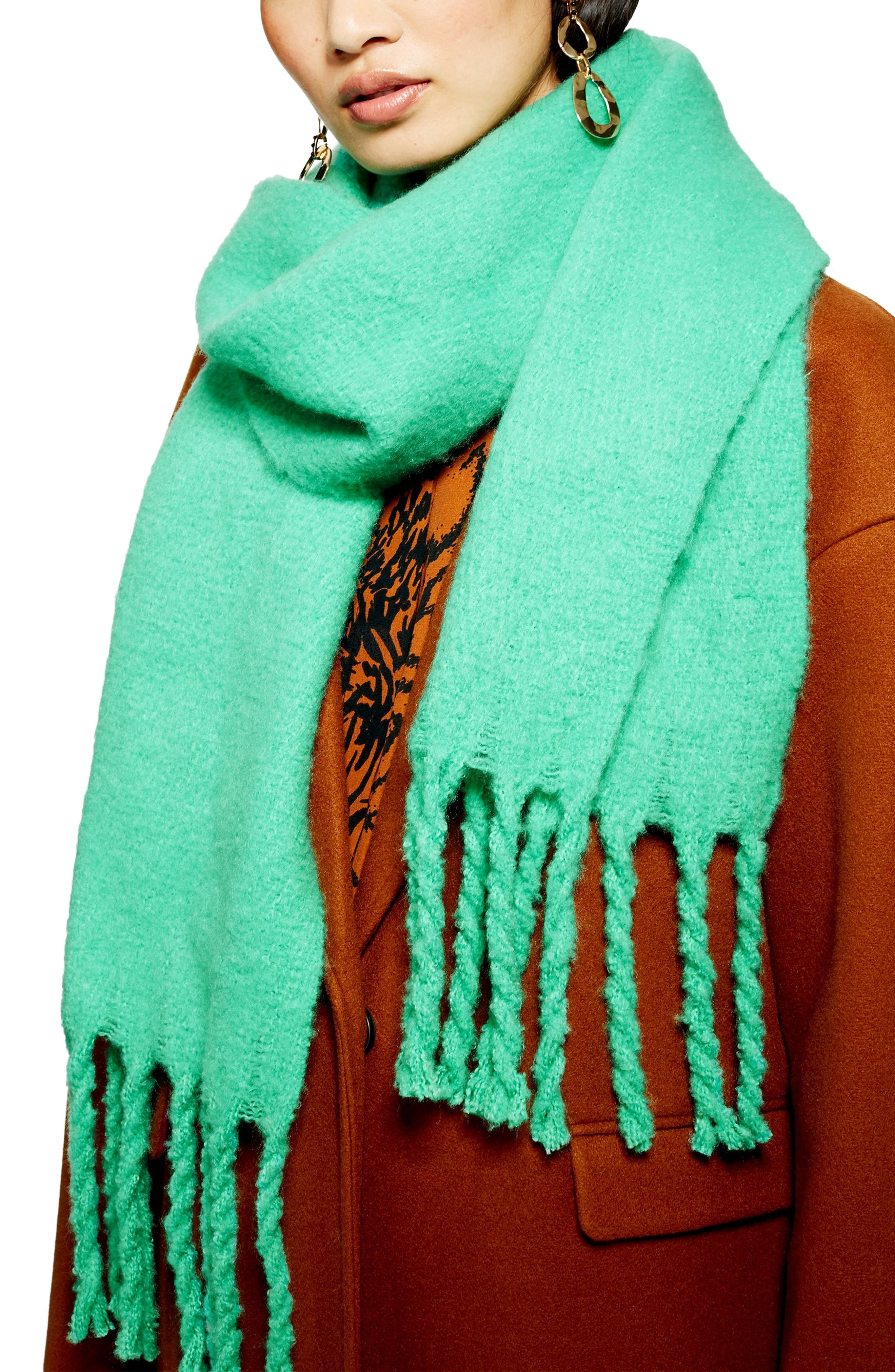Heavy Brushed Scarf,                         Main,                         color, MINT