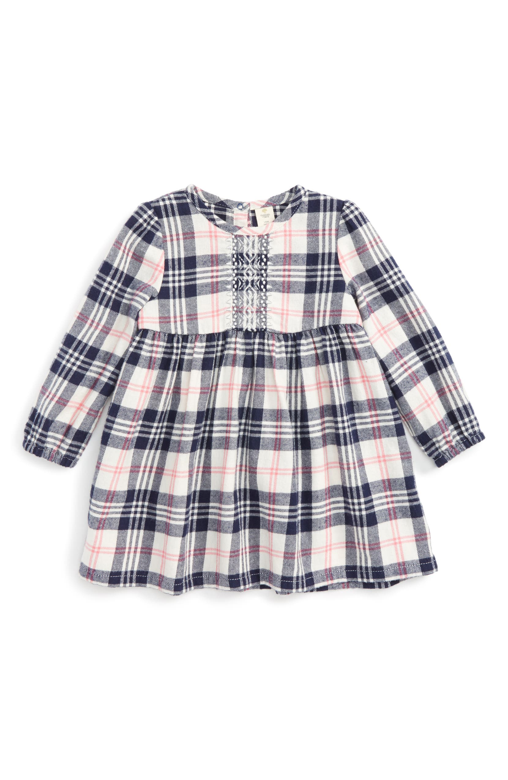 18ed79452d11 Tucker + Tate Embroidered Plaid Flannel Dress (Baby Girls)