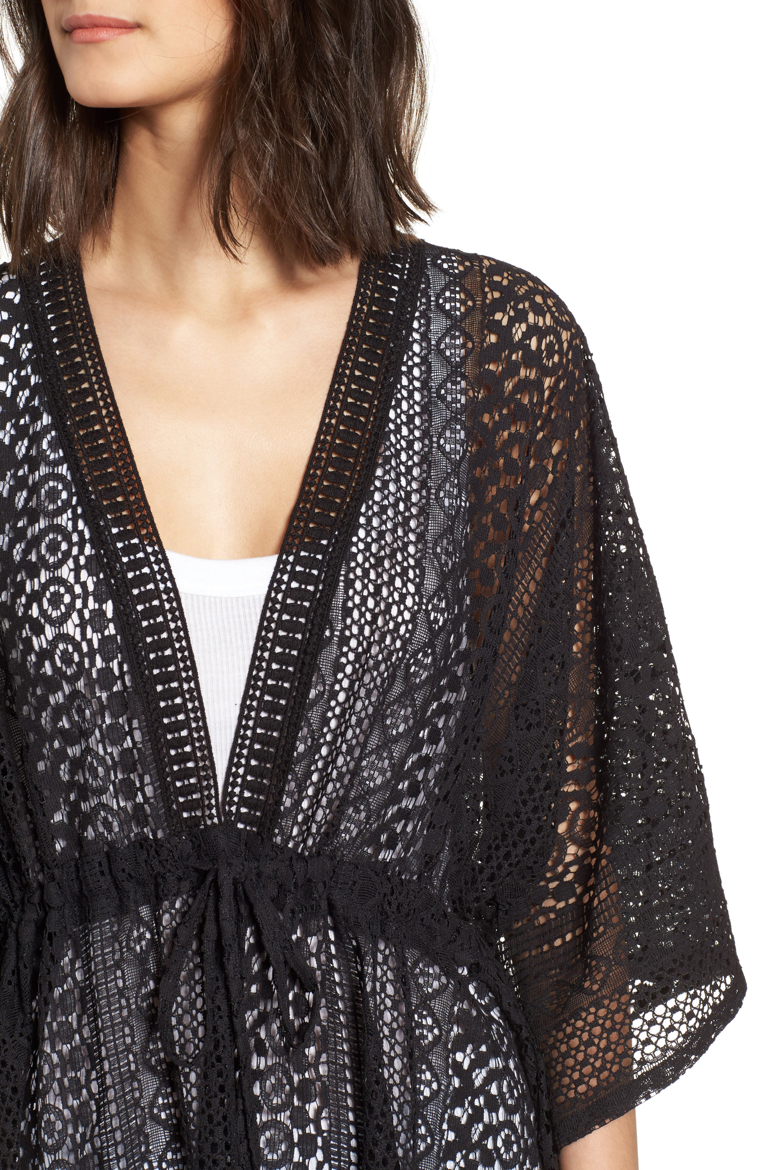 Lace Kimono Pullover,                             Alternate thumbnail 7, color,