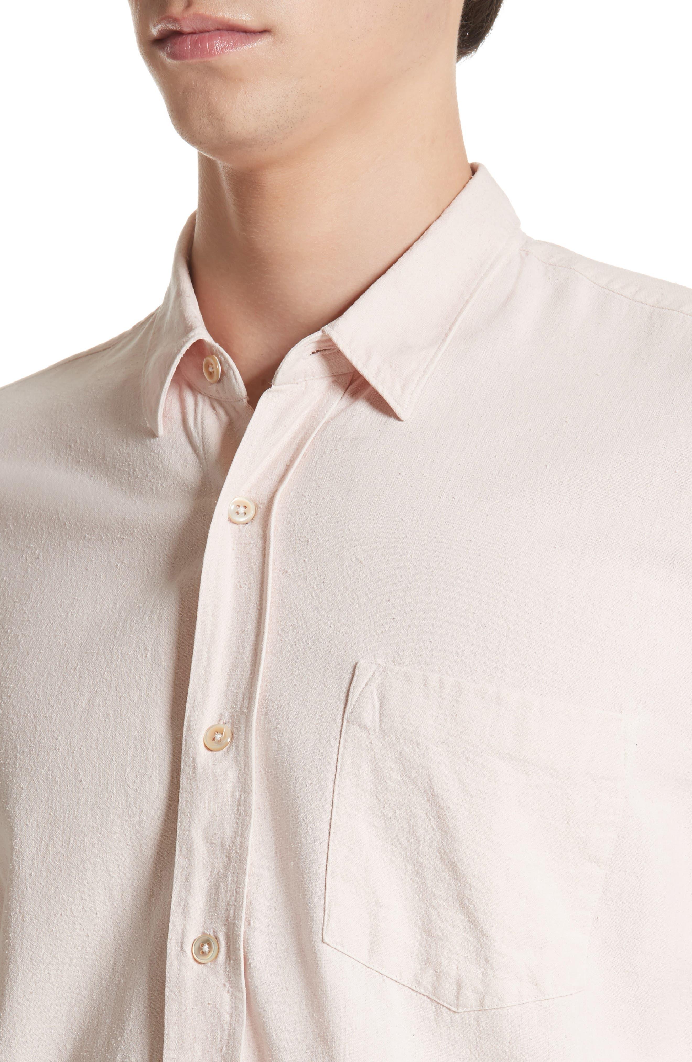Classic Silk Shirt,                             Alternate thumbnail 4, color,                             650