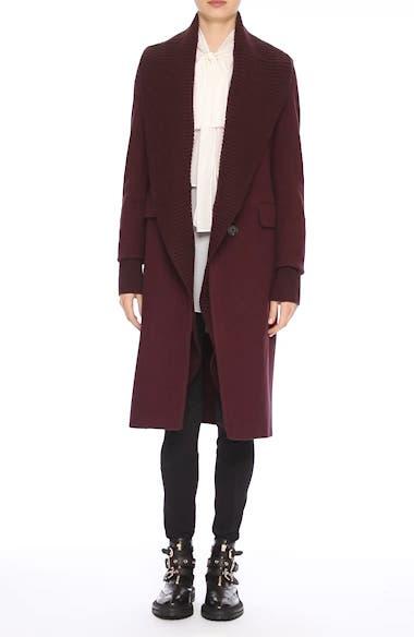 Cairndale Knit Trim Cashmere Coat, video thumbnail