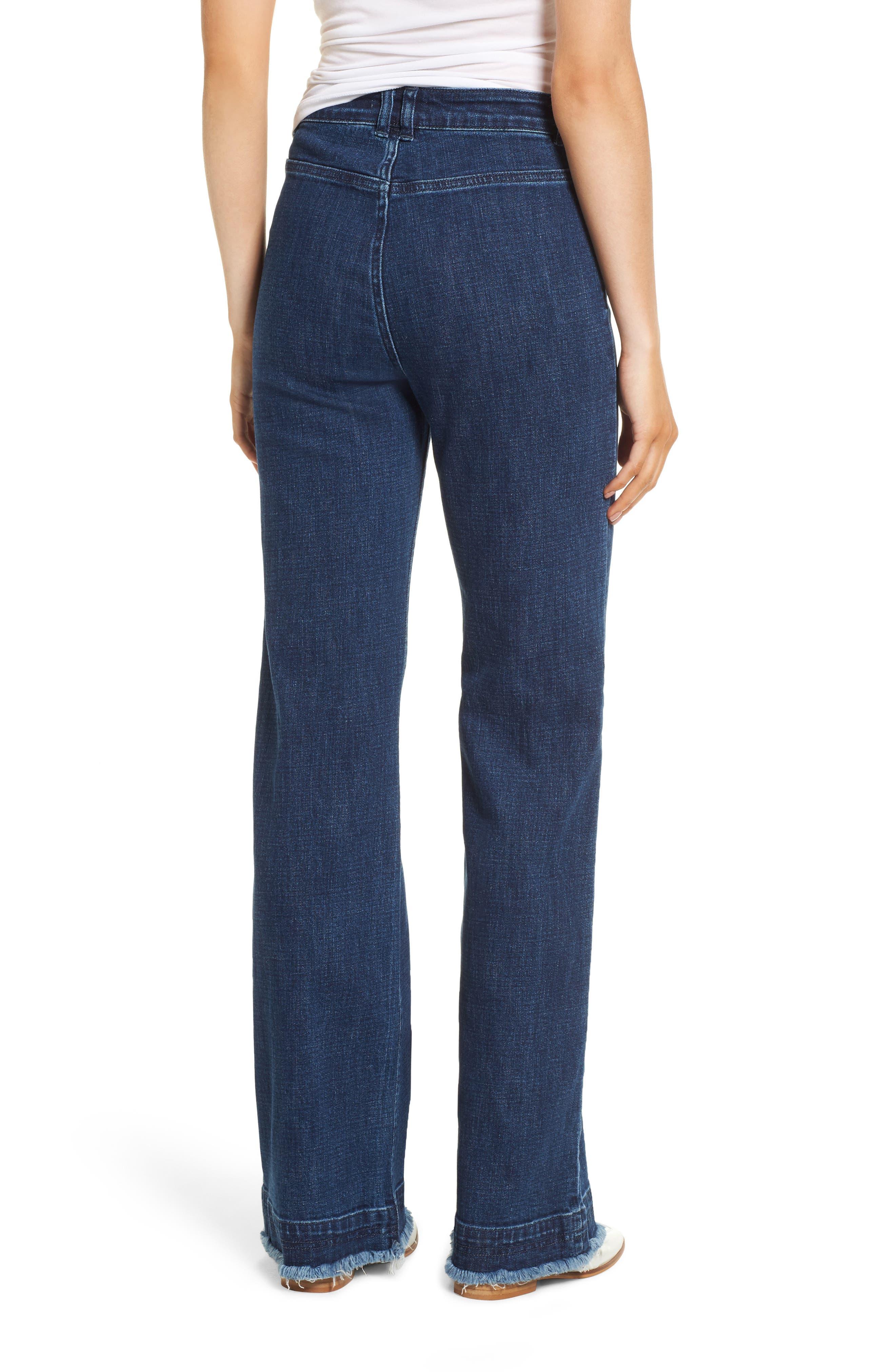Elwood Wide Leg Jeans,                             Alternate thumbnail 2, color,                             INDIGO