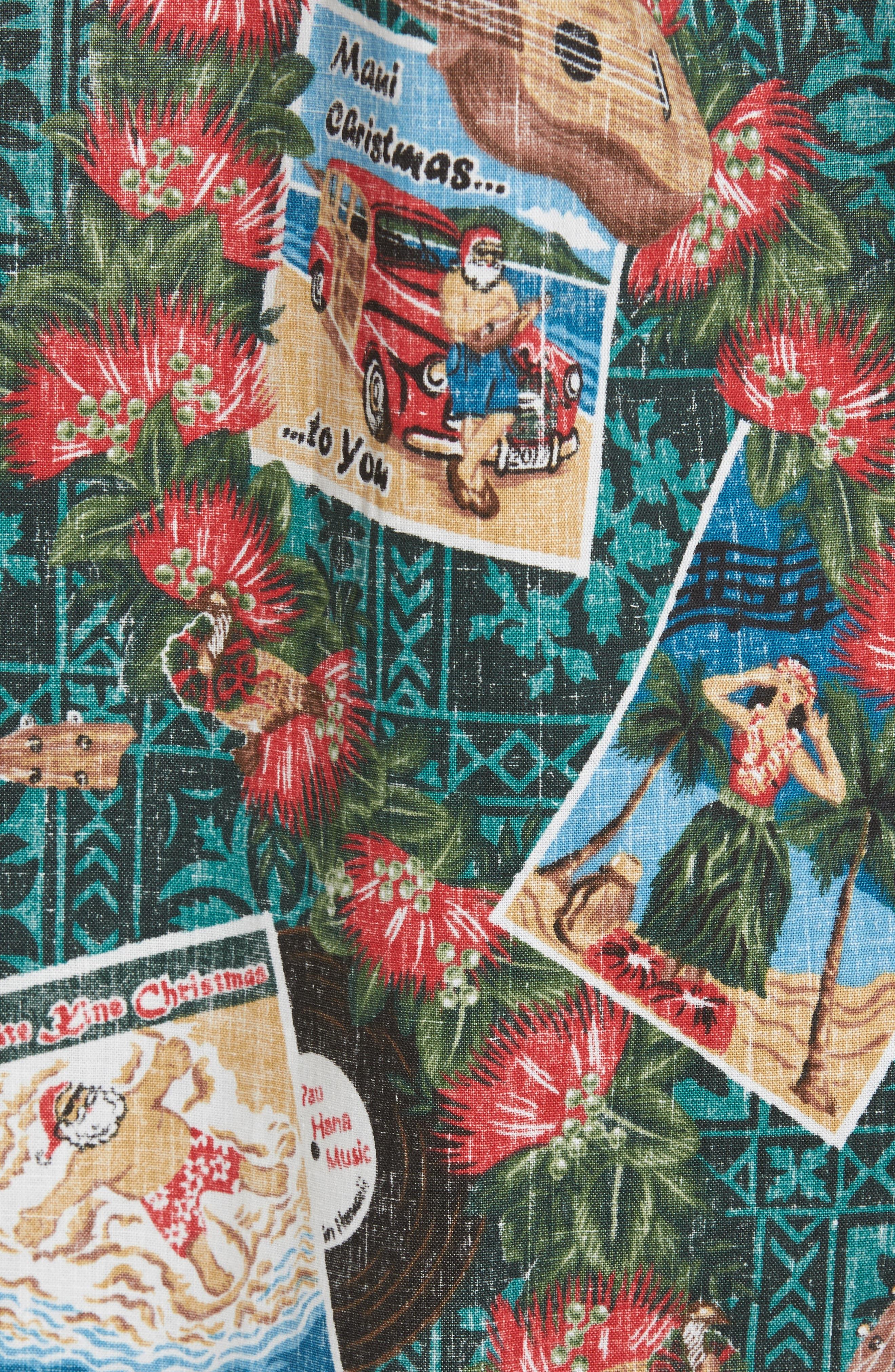 Hawaiian Christmas 2017 Sport Shirt,                             Alternate thumbnail 5, color,                             310