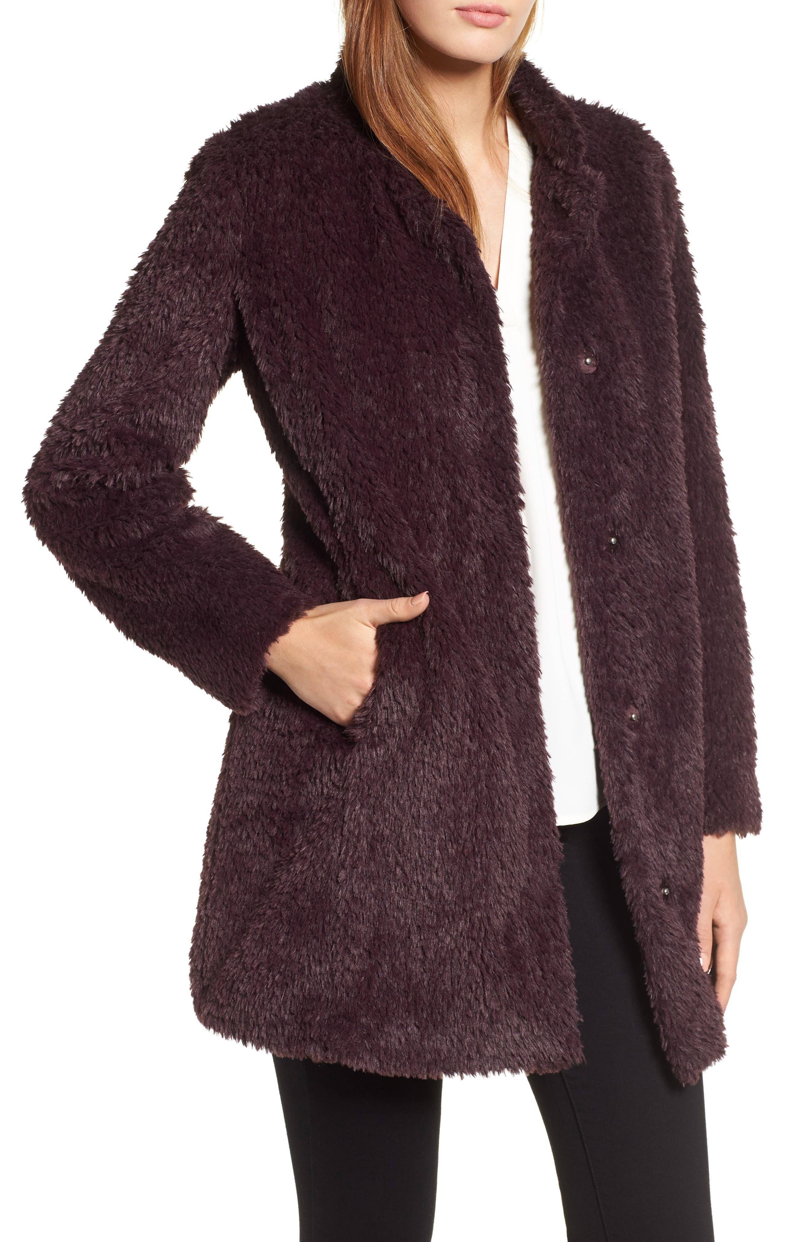 Faux Fur Jacket,                             Main thumbnail 4, color,
