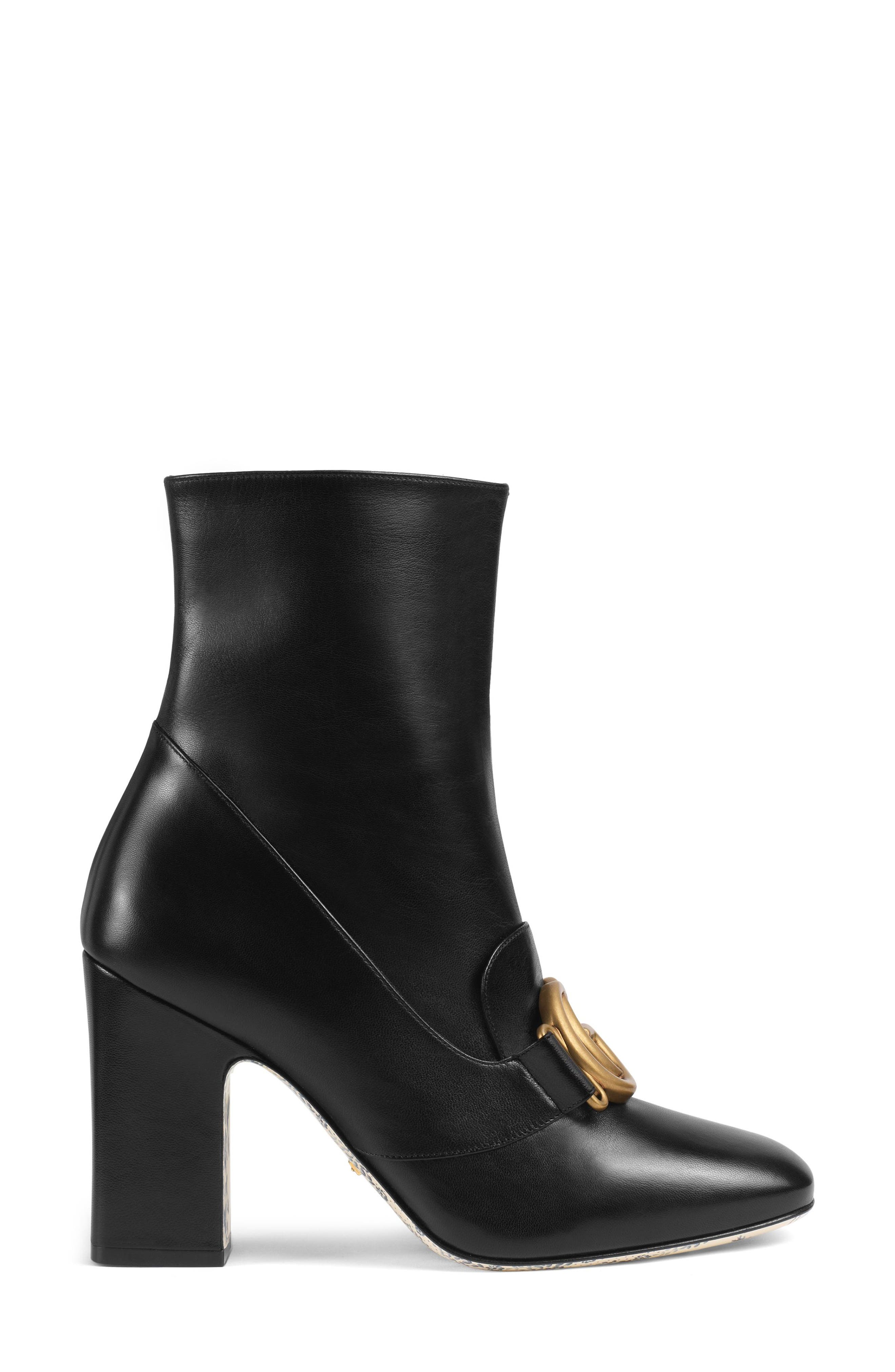 Victoire Bootie,                             Alternate thumbnail 2, color,                             BLACK LEATHER