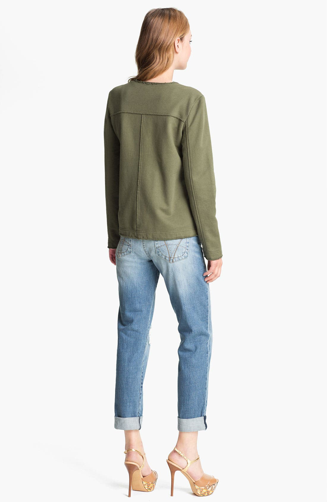 KUT FROM THE KLOTH,                             'Catherine' Distressed Slim Boyfriend Jeans,                             Alternate thumbnail 4, color,                             400