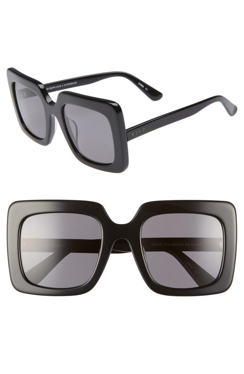 8baf818e286 DIFF Sasha 53mm Polarized Sunglasses
