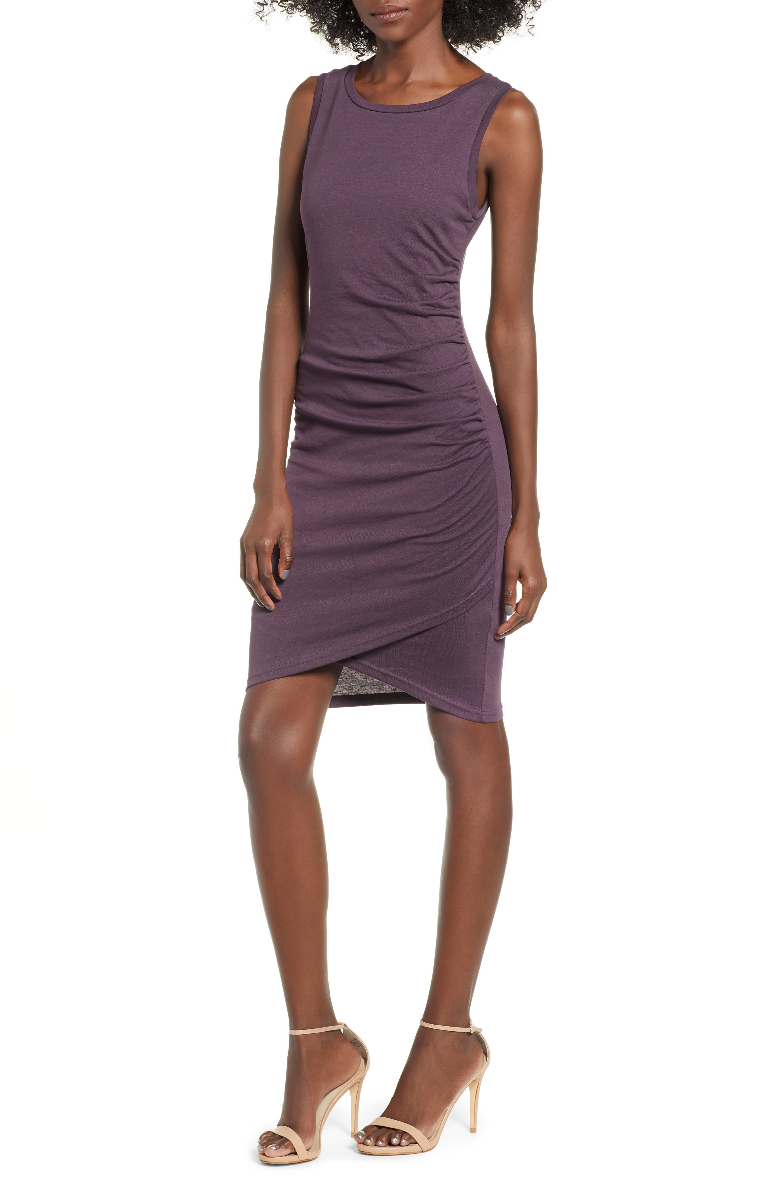 Ruched Body-Con Tank Dress,                             Main thumbnail 1, color,                             503