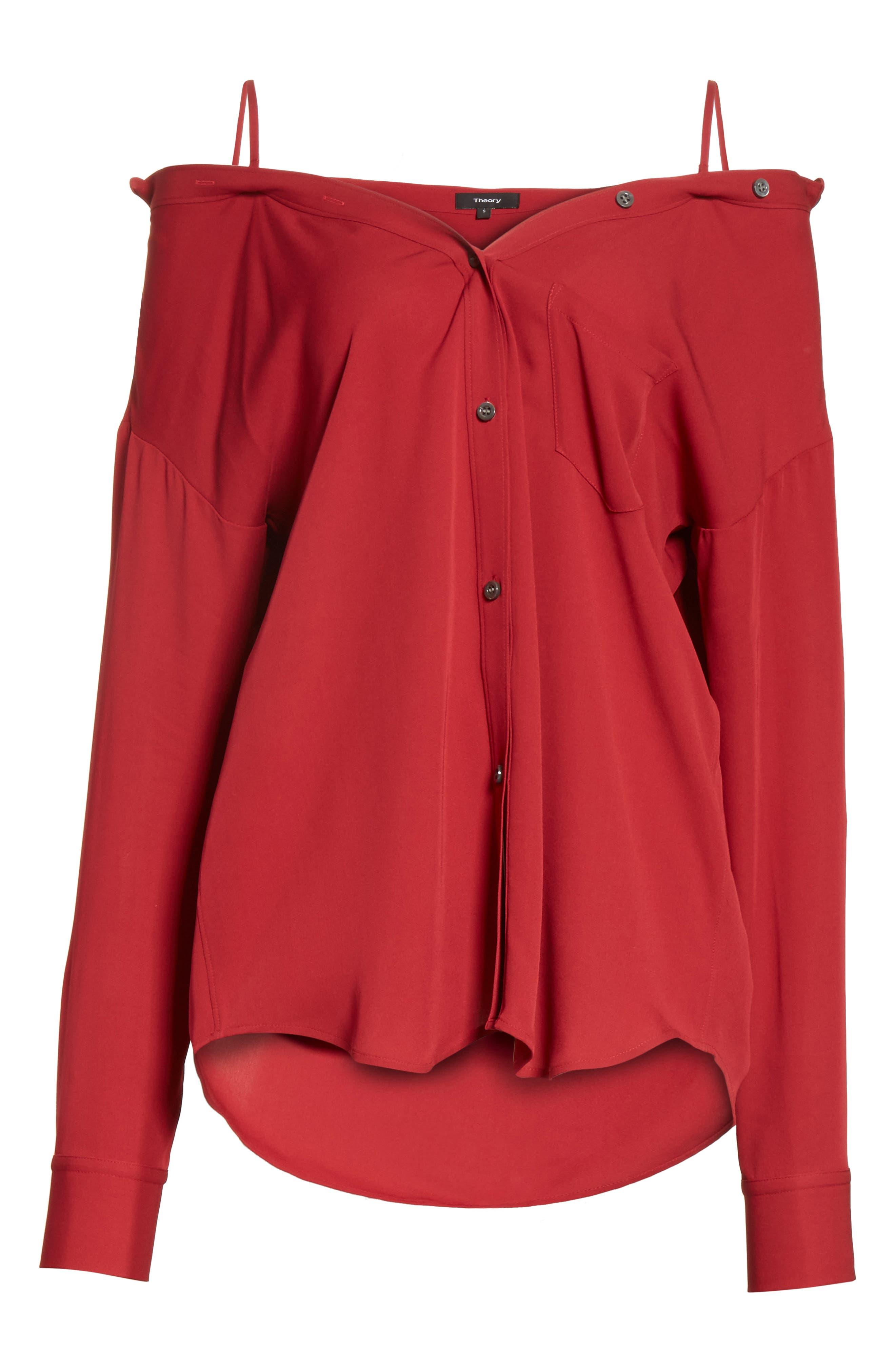 Tamalee Silk Shirt,                             Alternate thumbnail 22, color,