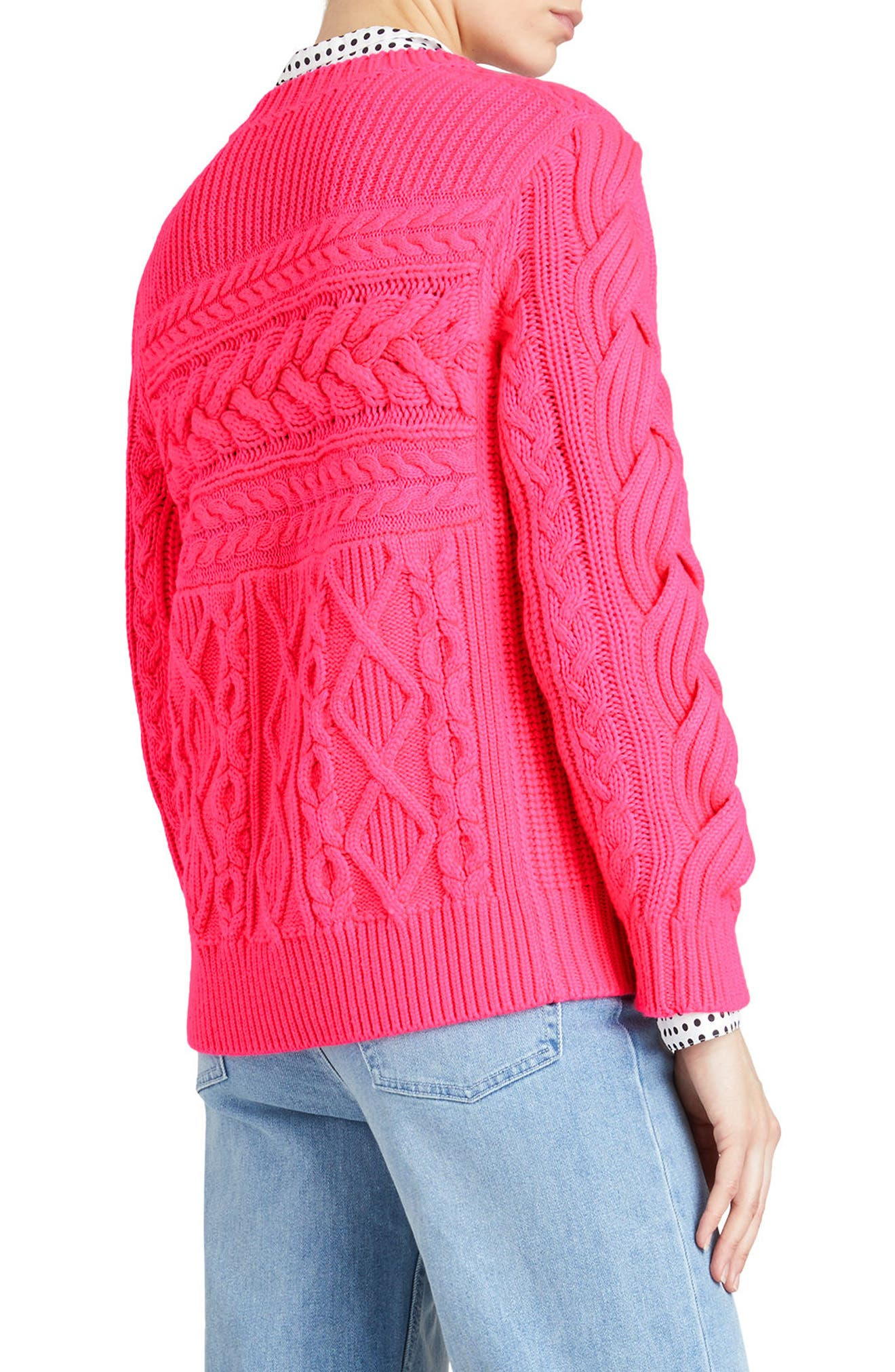 Tolman Aran Knit Sweater,                             Alternate thumbnail 3, color,
