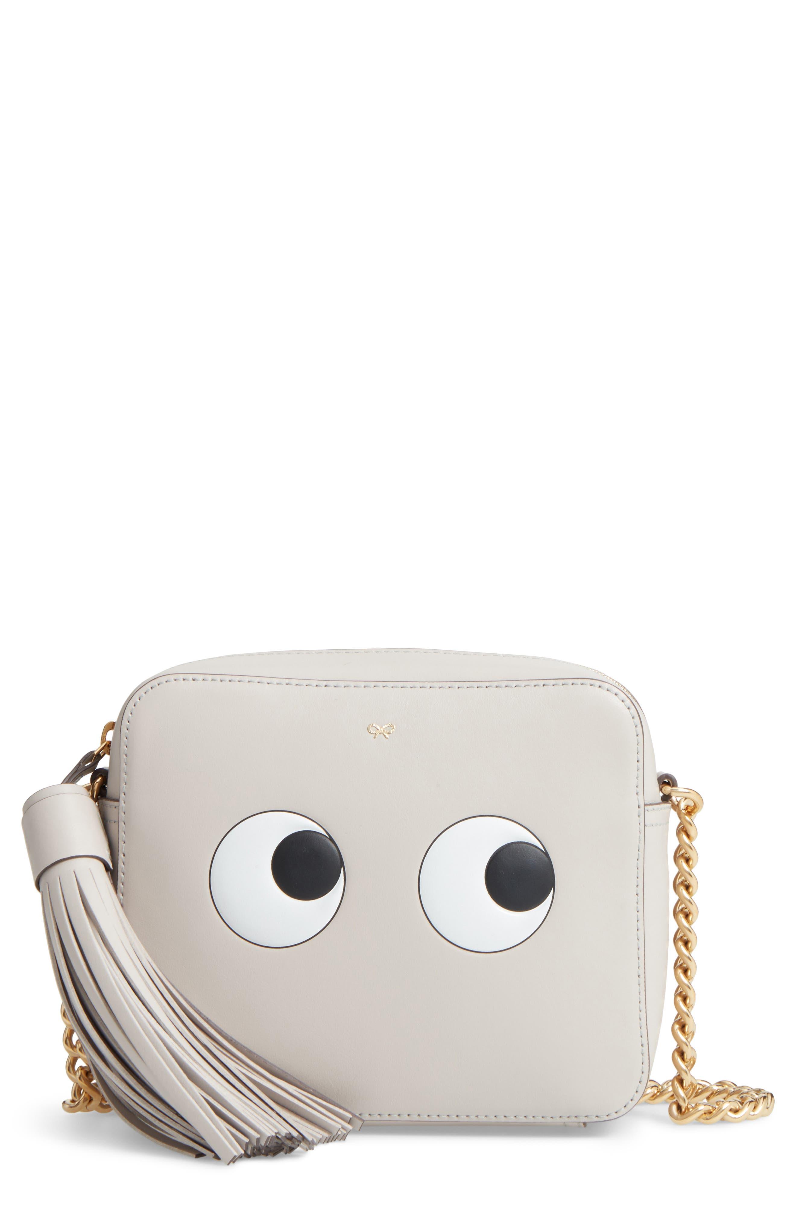 ANYA HINDMARCH Eyes Leather Crossbody Bag, Main, color, 050