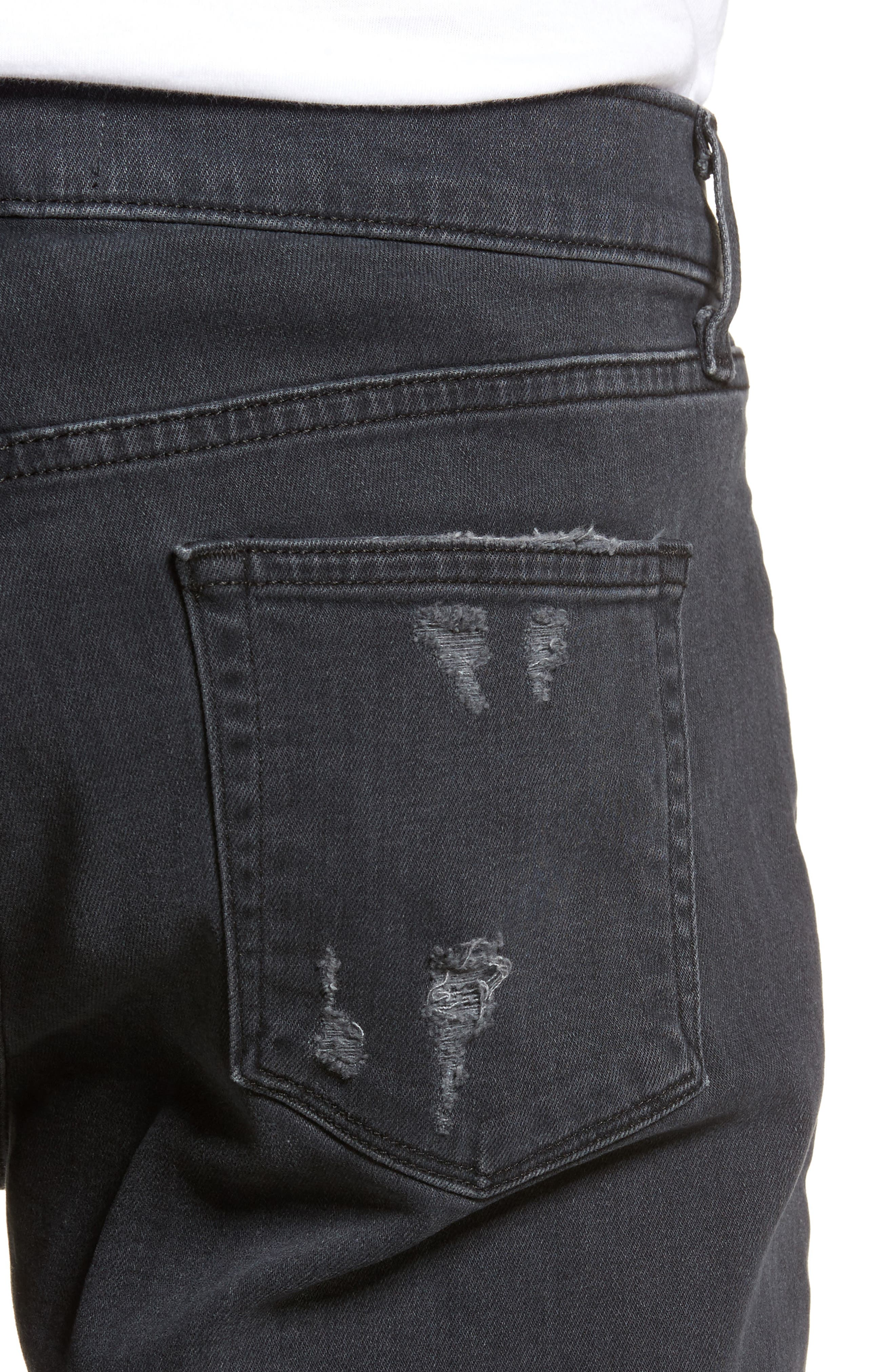 Tyler Slim Fit Jeans,                             Alternate thumbnail 4, color,                             001
