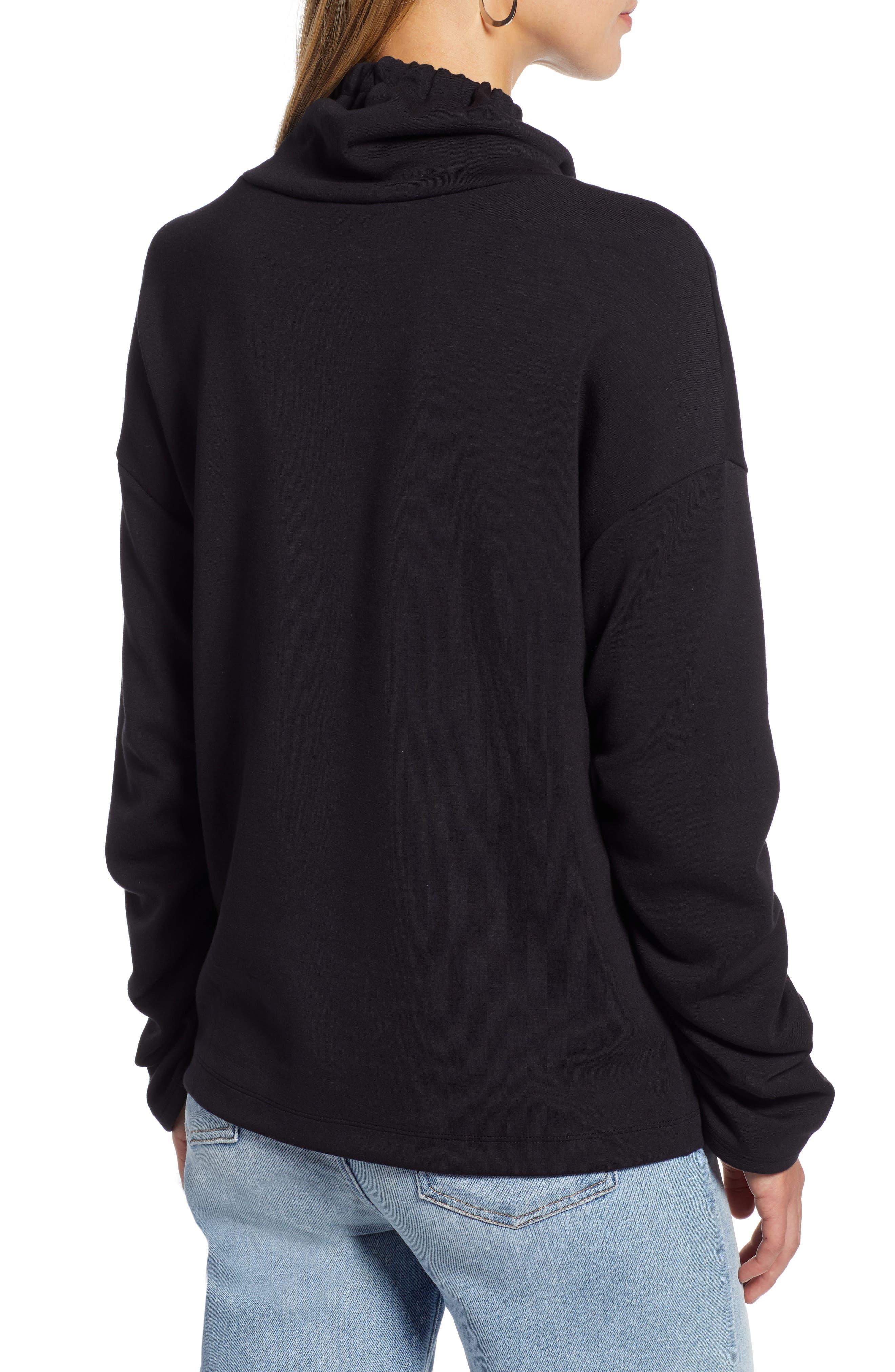 Funnel Neck Sweatshirt,                             Alternate thumbnail 2, color,                             001