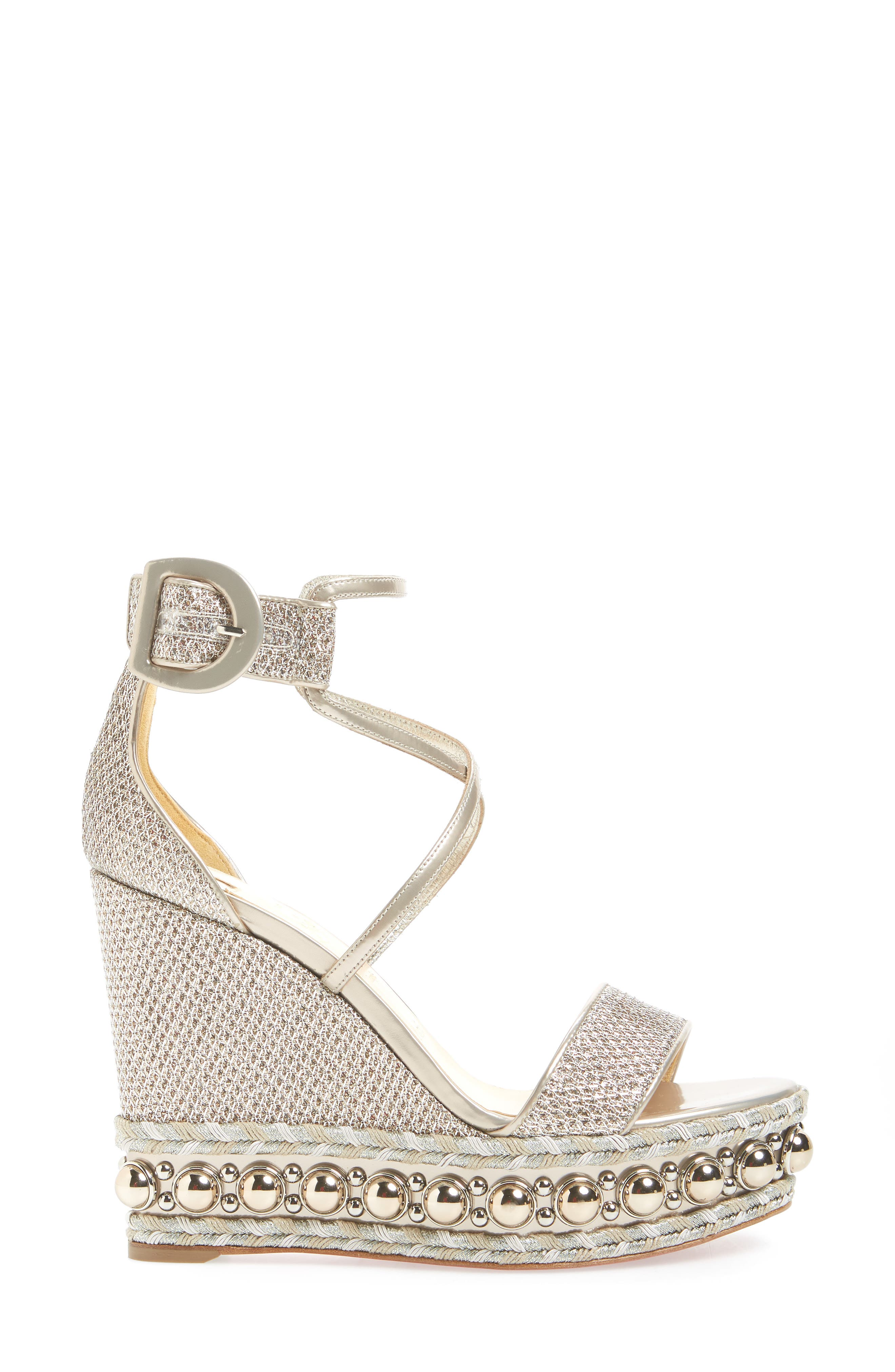 Chocazeppa Studded Wedge,                             Alternate thumbnail 3, color,                             COLOMBE