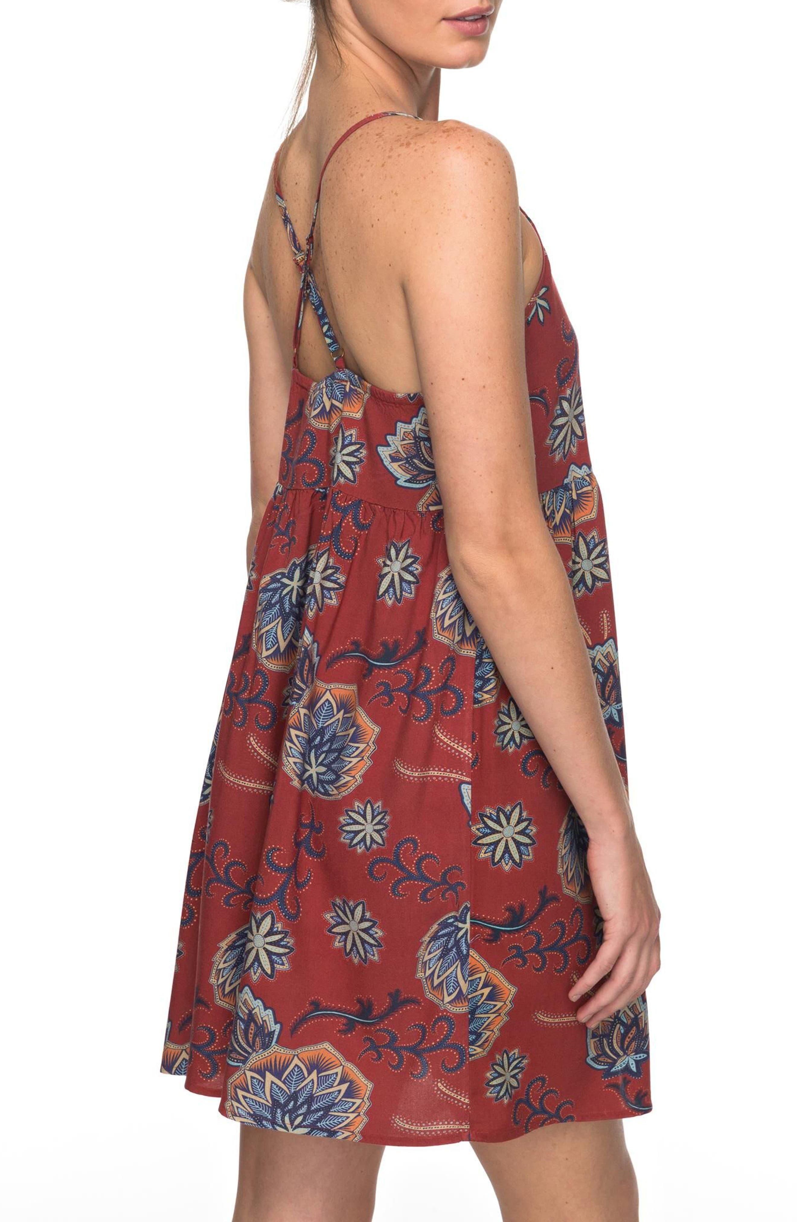 Tropical Sundance Print Babydoll Dress,                             Alternate thumbnail 2, color,                             001