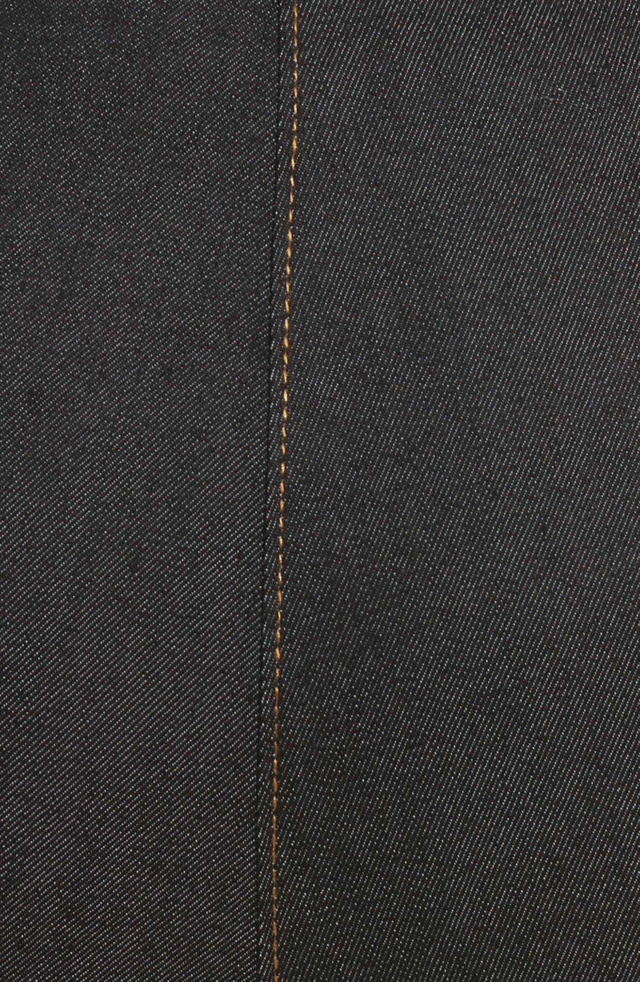 Andie Lace Front Skinny Ankle Jeans,                             Alternate thumbnail 5, color,                             001