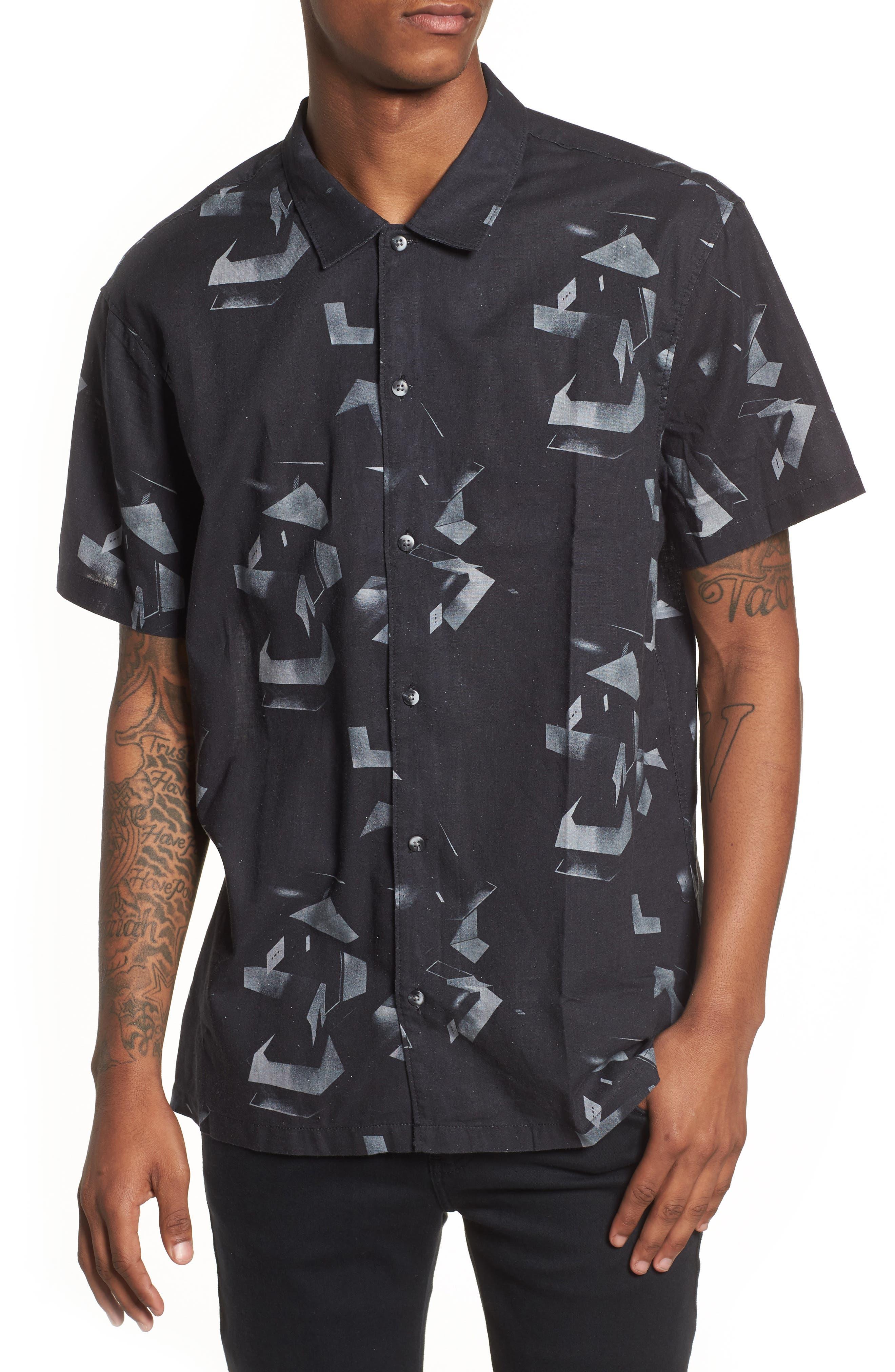 Shoto Short Sleeve Shirt,                             Main thumbnail 1, color,                             001