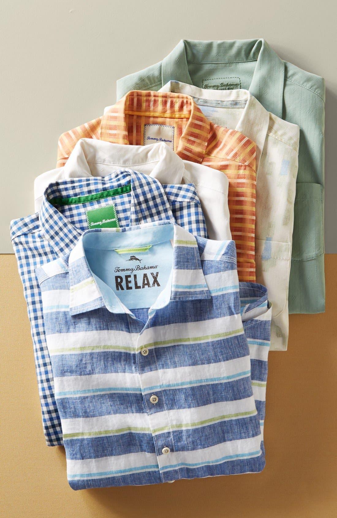 Java Dobby Original Fit Silk Camp Shirt,                             Alternate thumbnail 6, color,                             001