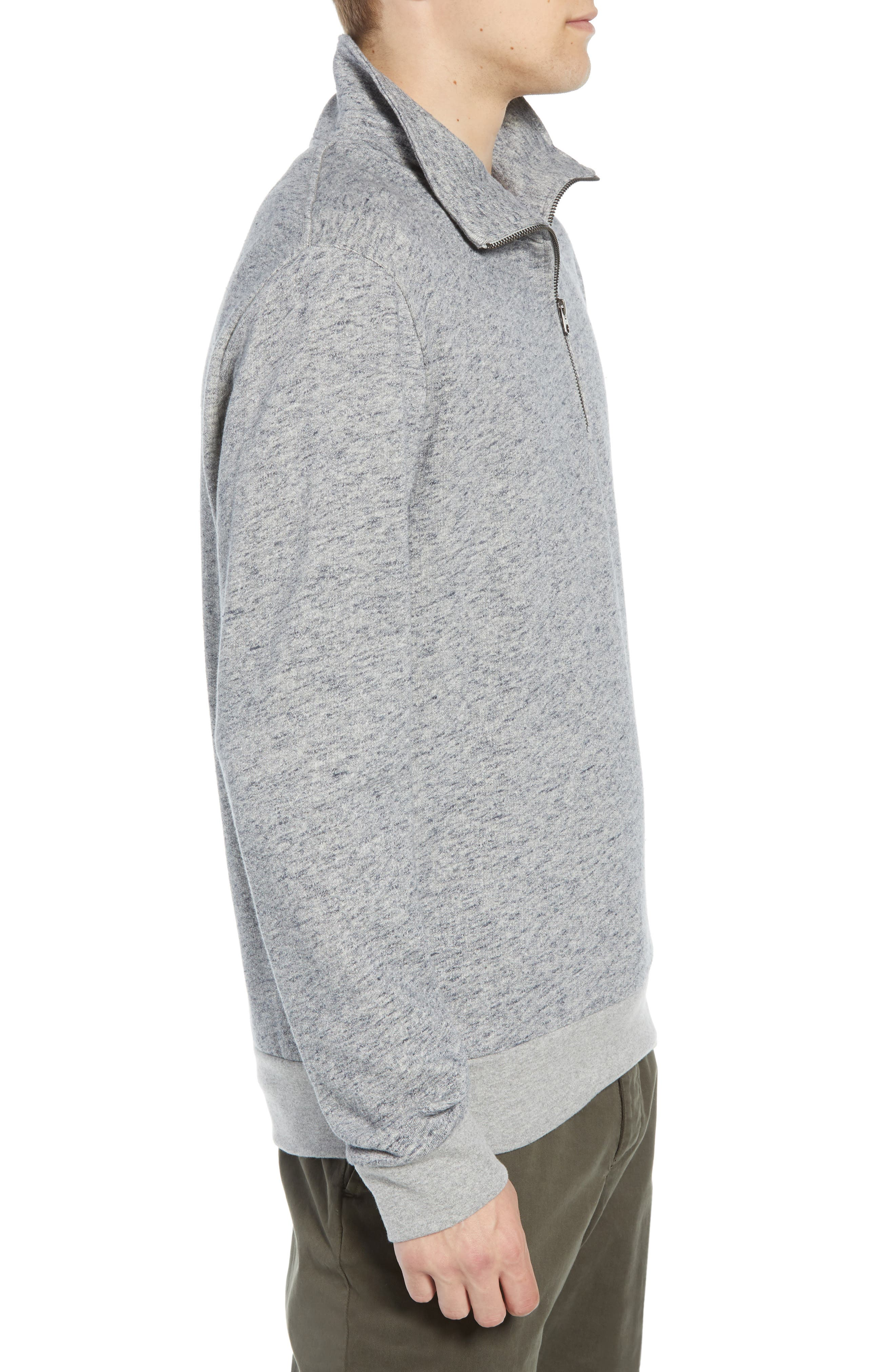 Winning Quarter Zip Regular Fit Sweatshirt,                             Alternate thumbnail 3, color,                             GREY MOULINE