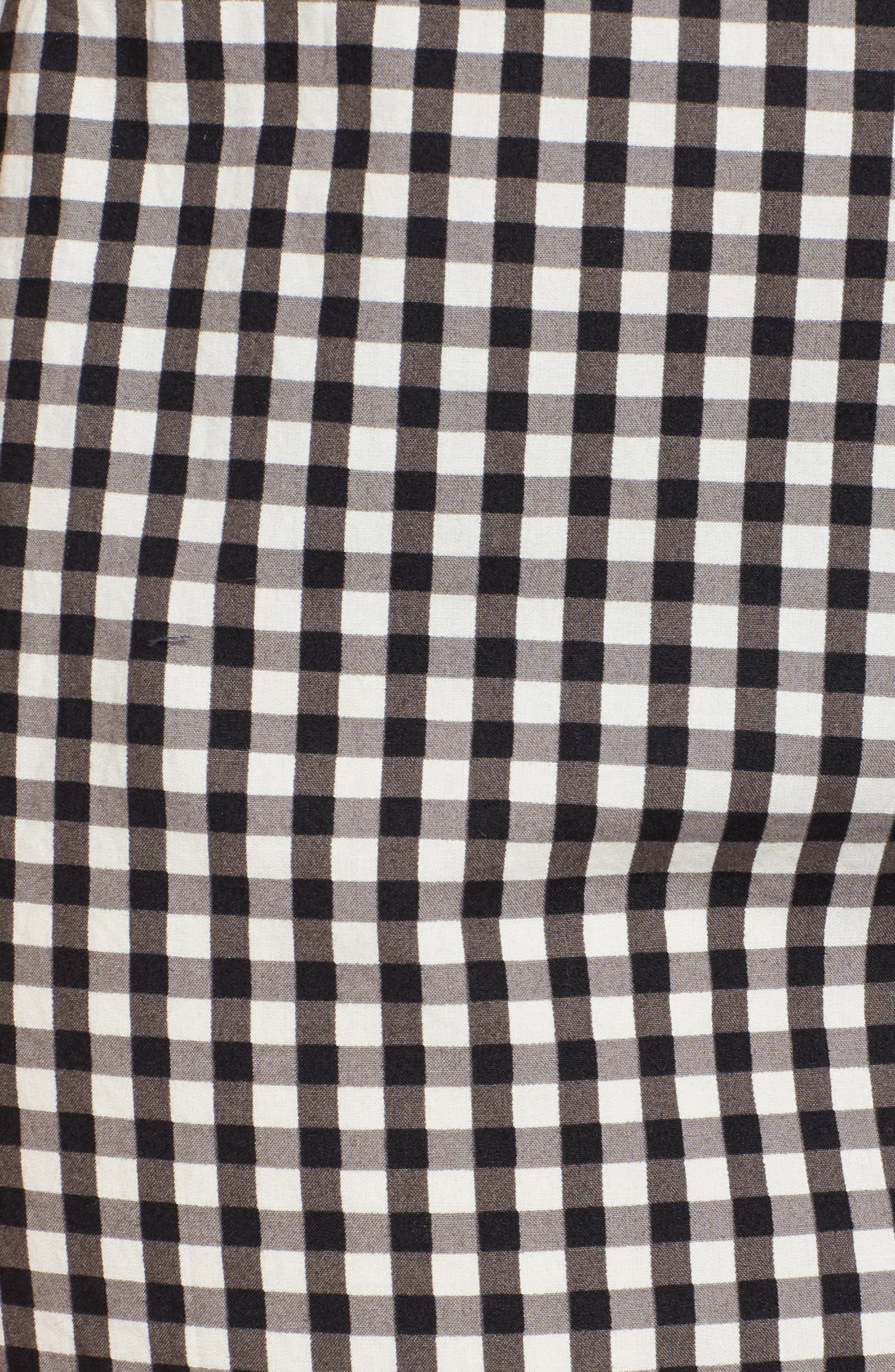 Tie Front Gingham Shirtdress,                             Alternate thumbnail 6, color,                             011