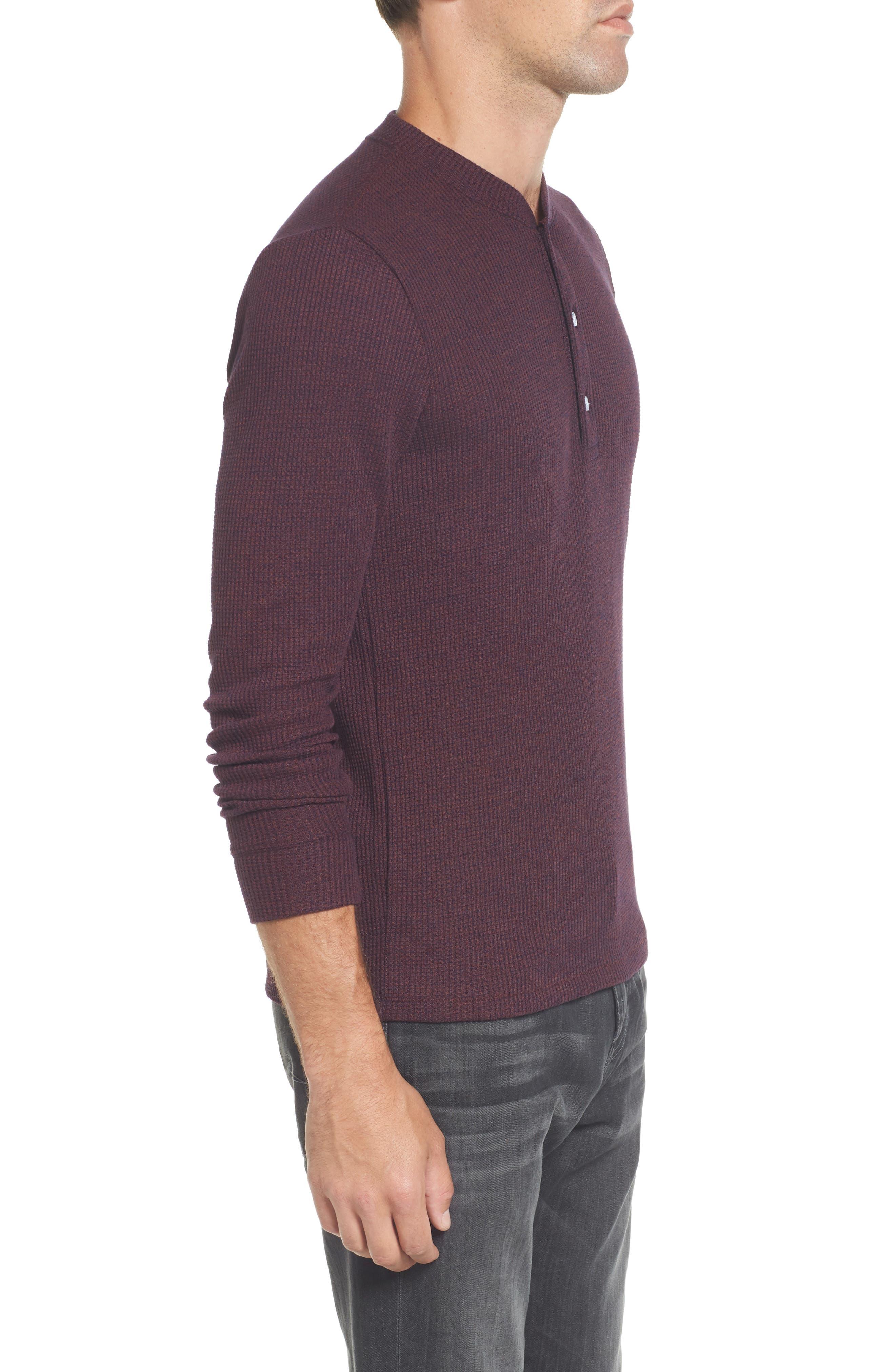 Slim Fit Long Sleeve Henley Shirt,                             Alternate thumbnail 9, color,