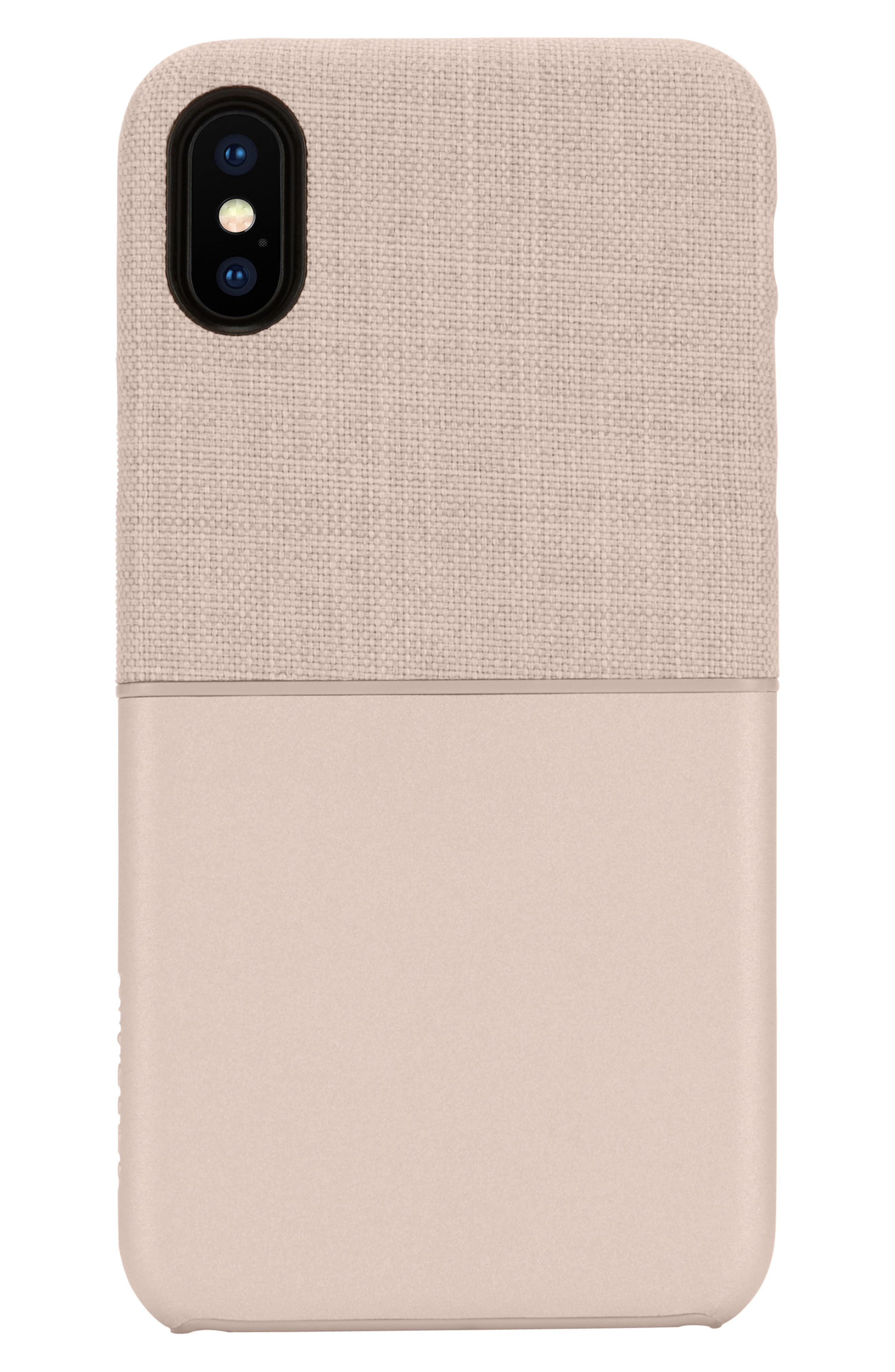 Textured Snap iPhone X & Xs Case,                             Alternate thumbnail 4, color,                             ROSE GOLD
