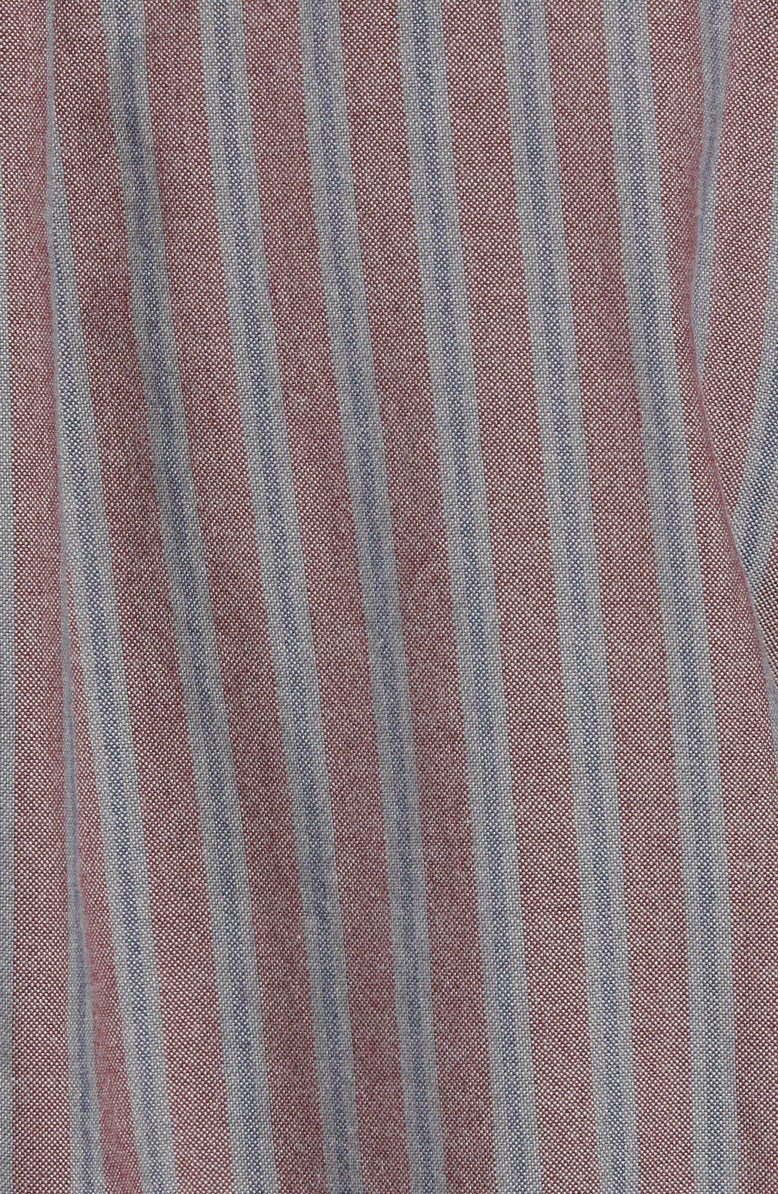 Houser Woven Shirt,                             Alternate thumbnail 5, color,                             PORT ROYALE STRIPE