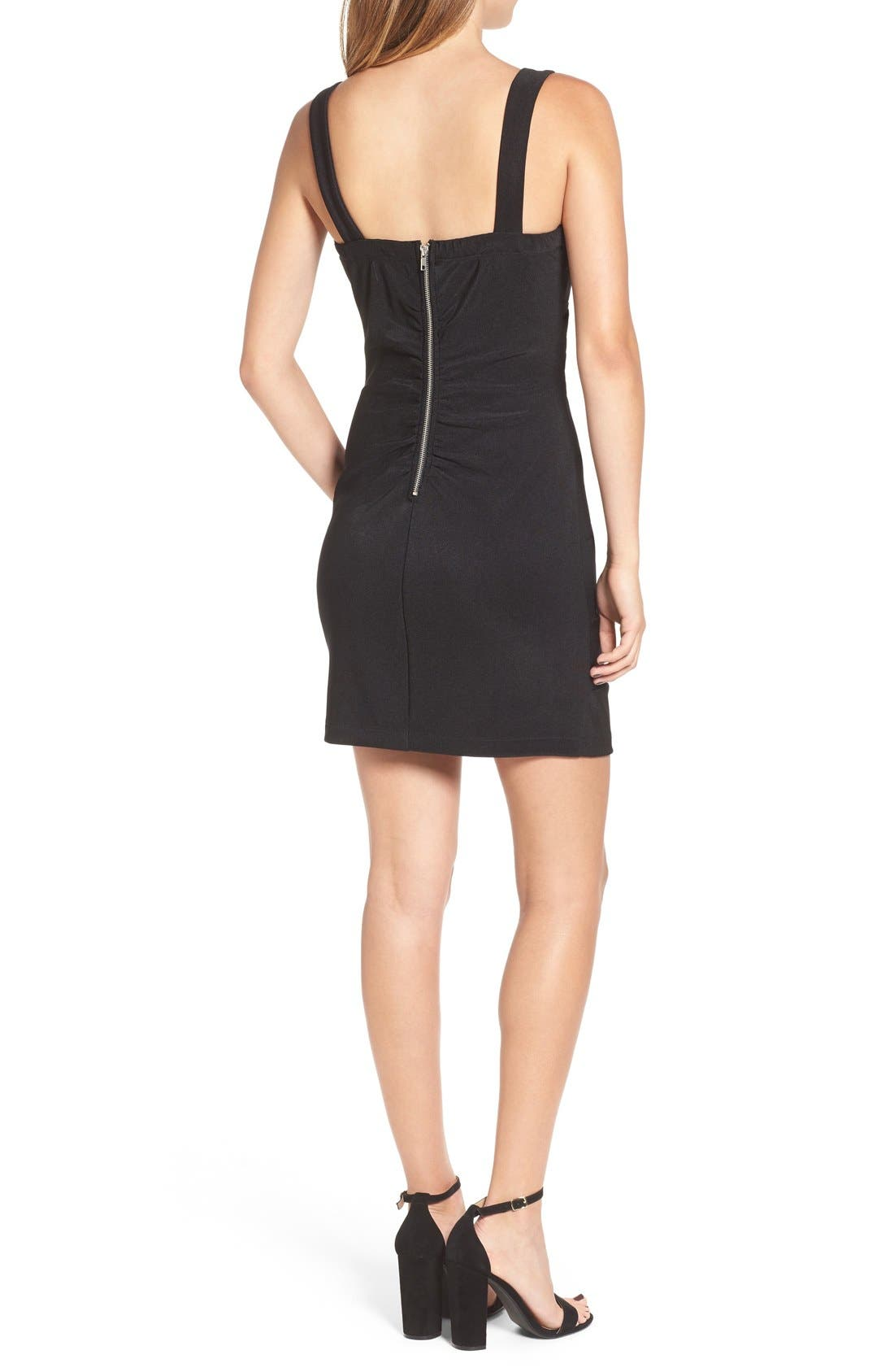 LOVE, NICKIE LEW,                             Cross Front Body-Con Dress,                             Alternate thumbnail 2, color,                             001