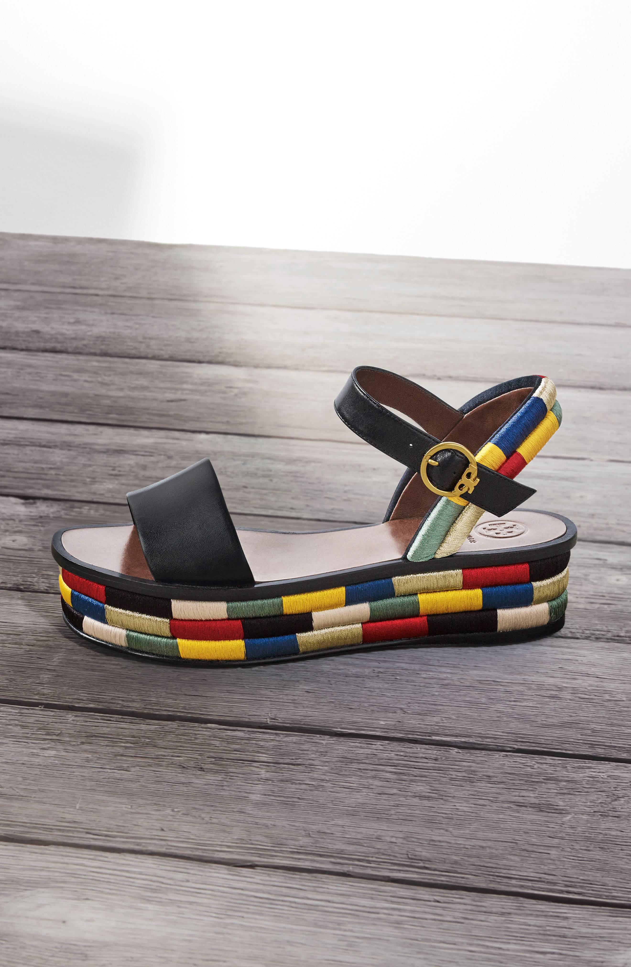 Camilla Platform Sandal,                             Alternate thumbnail 7, color,                             001