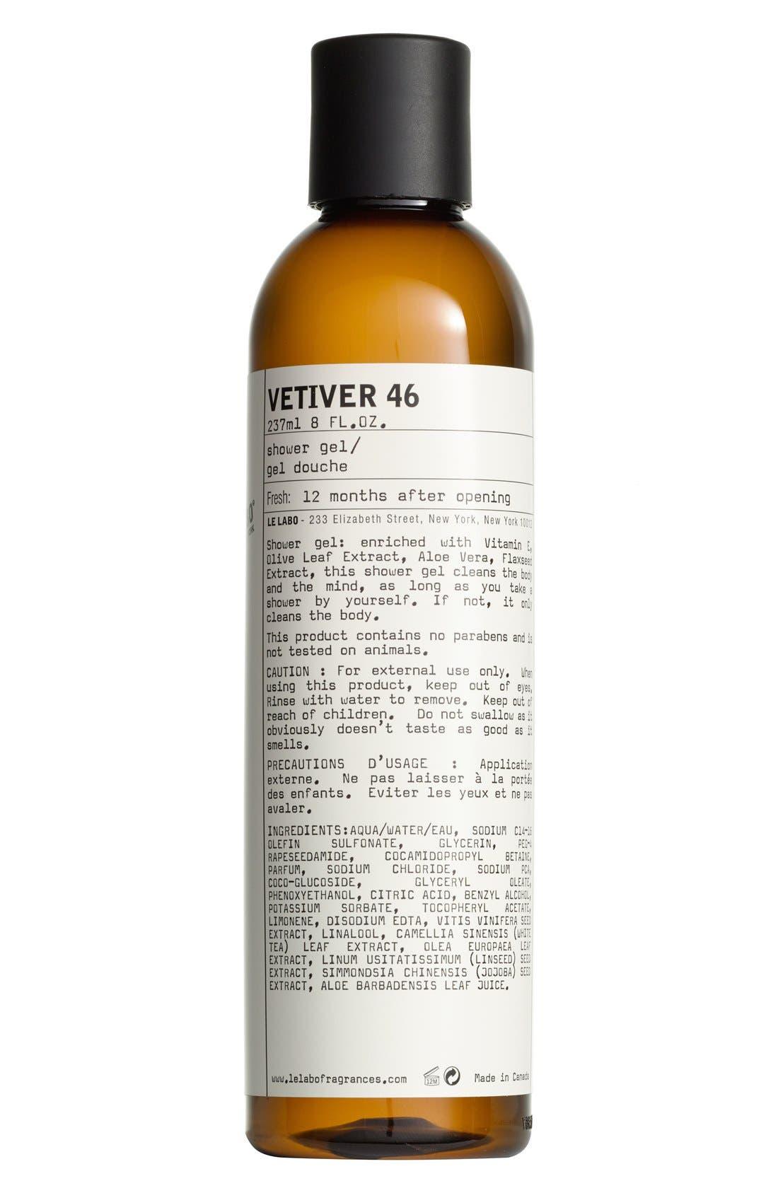 'Vetiver 46' Shower Gel,                             Main thumbnail 1, color,                             NO COLOR