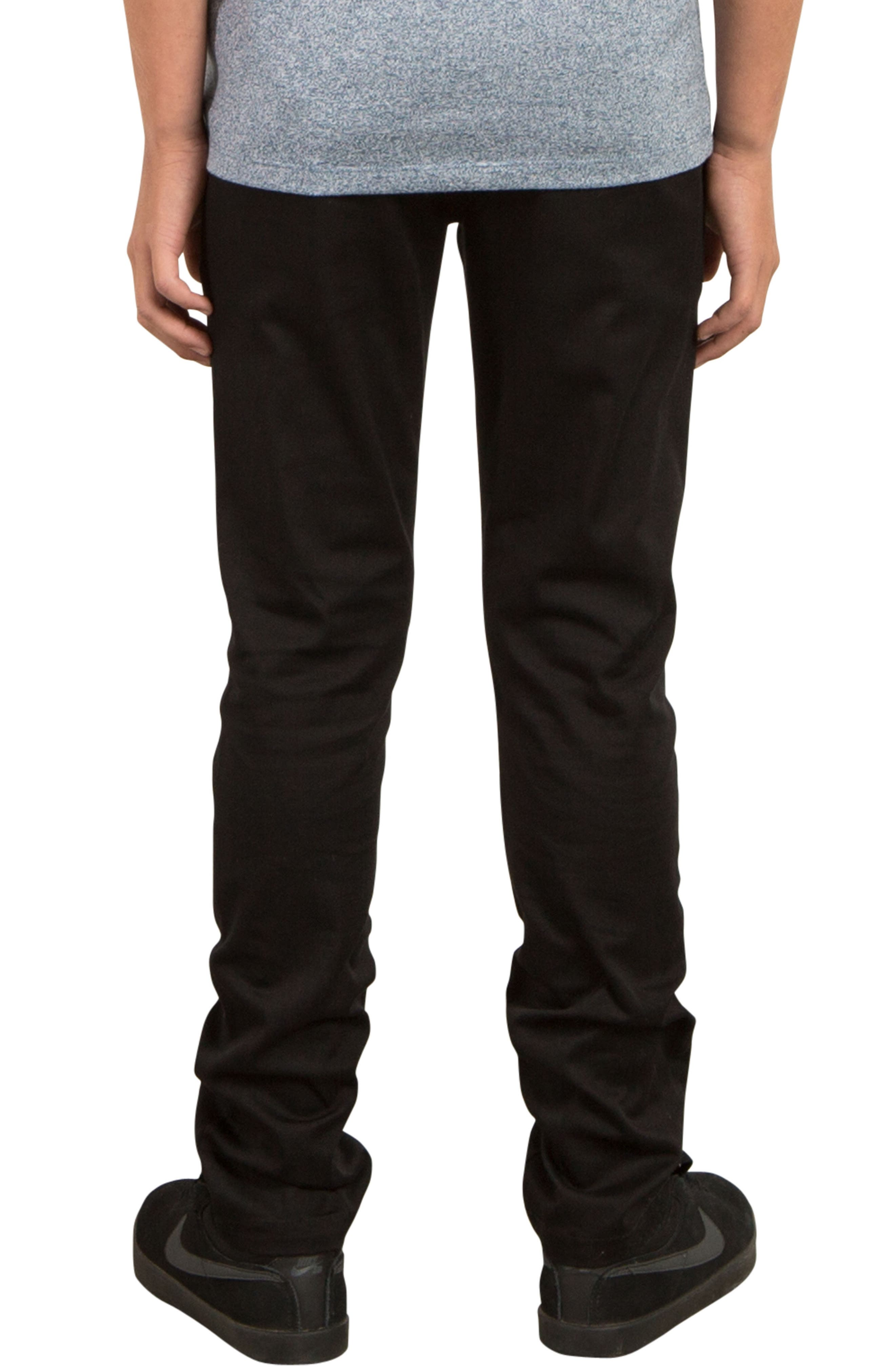 Slim Fit Stretch Chinos,                             Alternate thumbnail 2, color,                             001