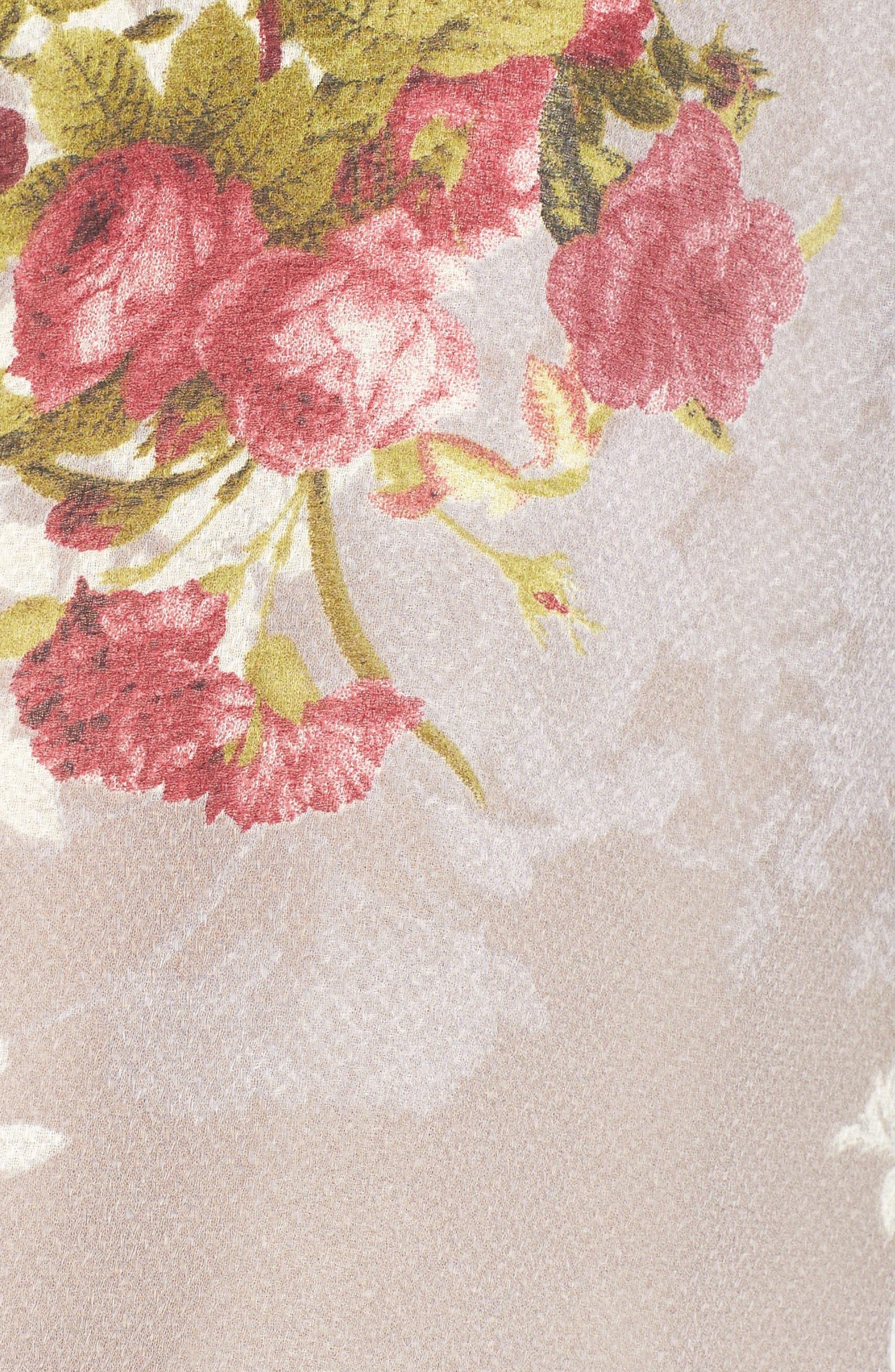 'Julia' Floral Print Tie Neck Romper,                             Alternate thumbnail 6, color,                             040