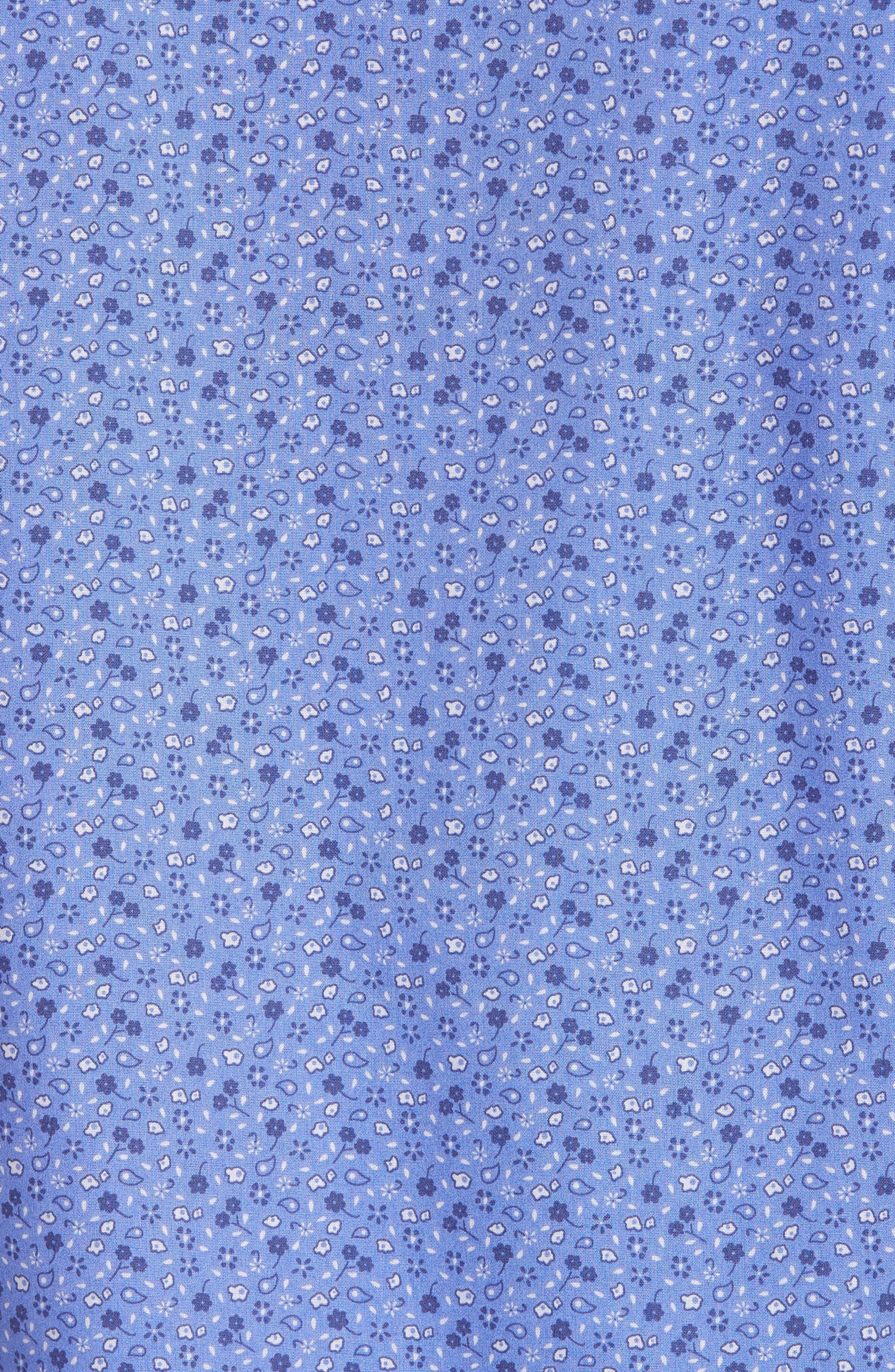 Ballou Regular Fit Floral Print Sport Shirt,                             Alternate thumbnail 5, color,                             430