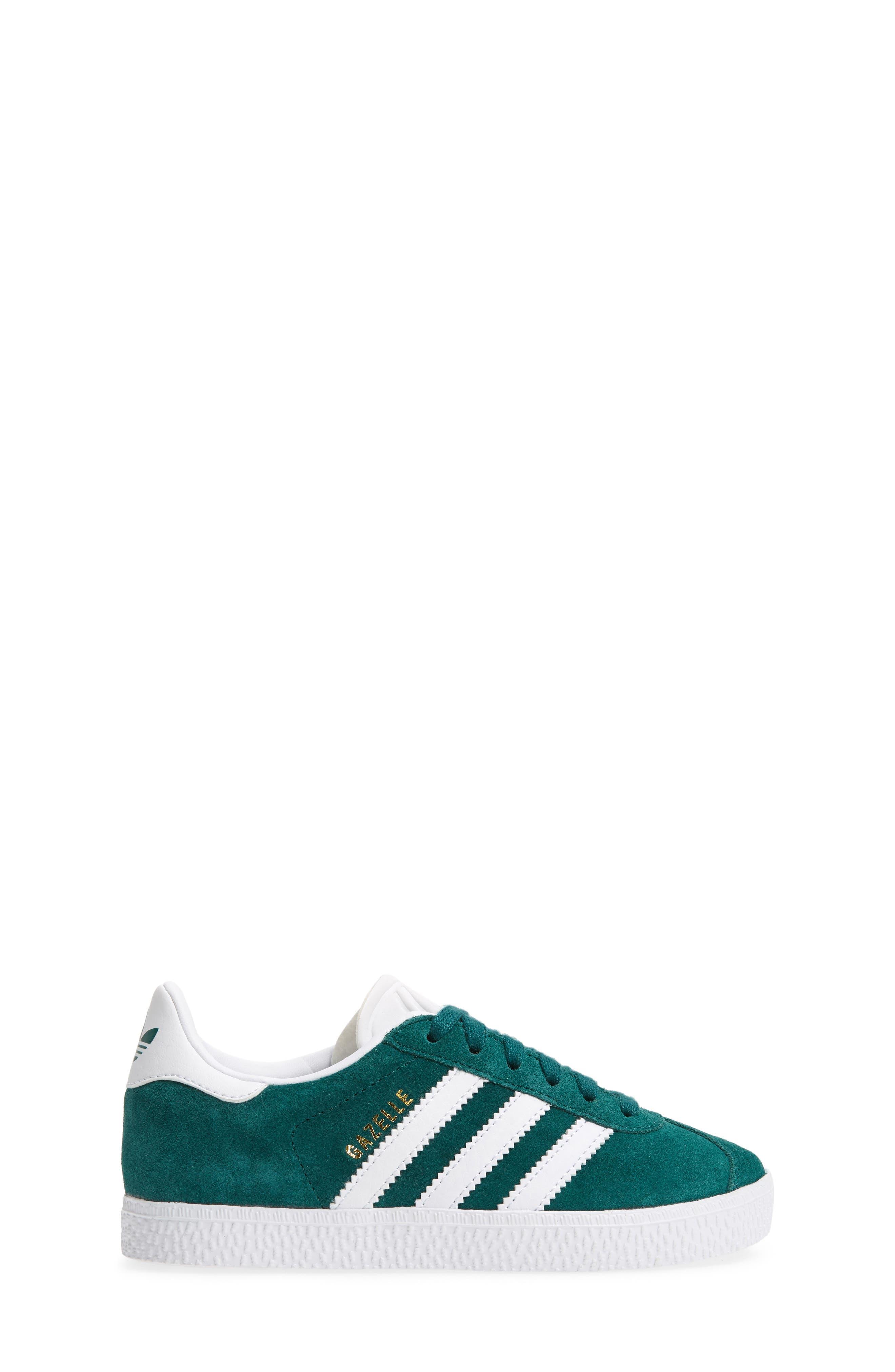 Gazelle Sneaker,                             Alternate thumbnail 3, color,                             NOBLE GREEN/ WHITE