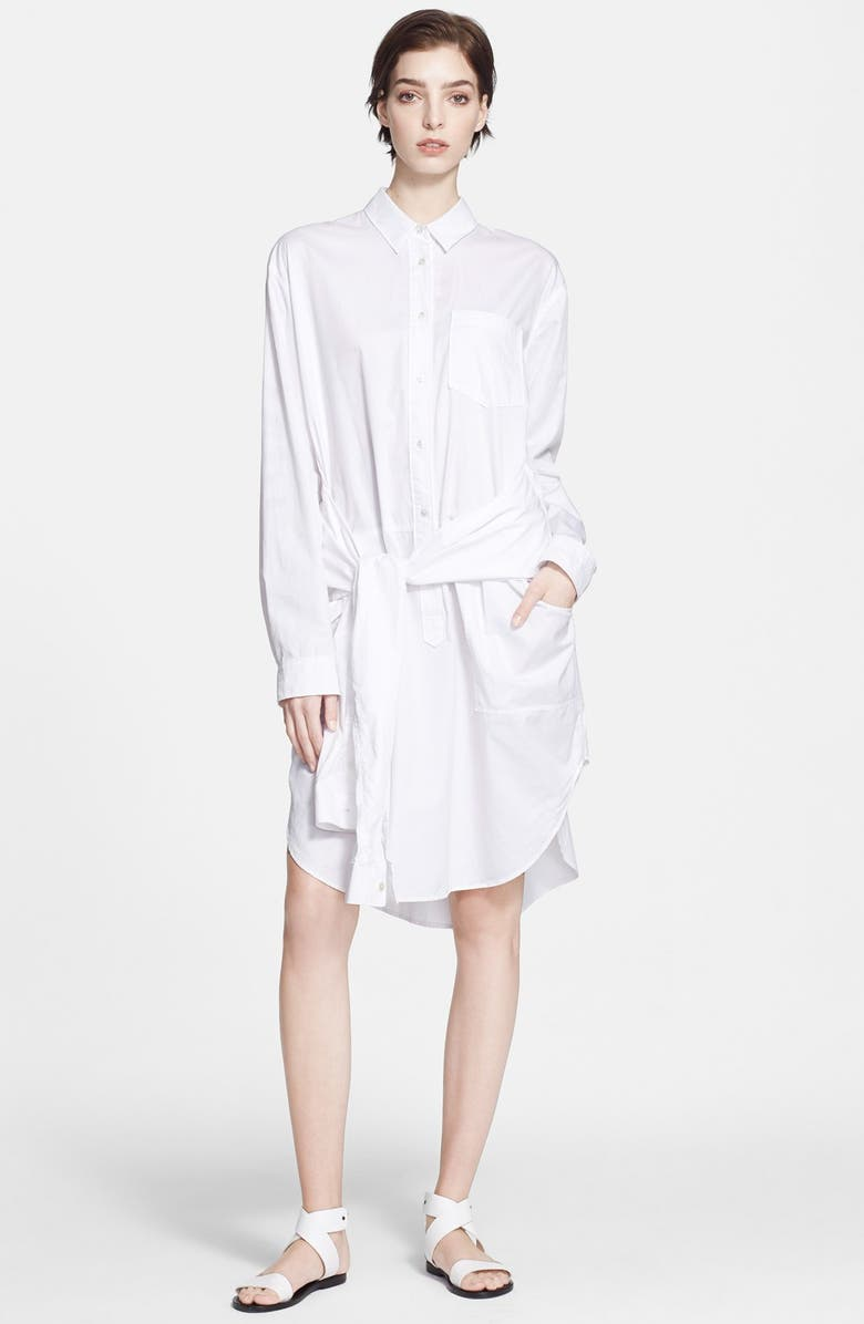 T By Alexander Wang Oversize Cotton Poplin Shirtdress Nordstrom