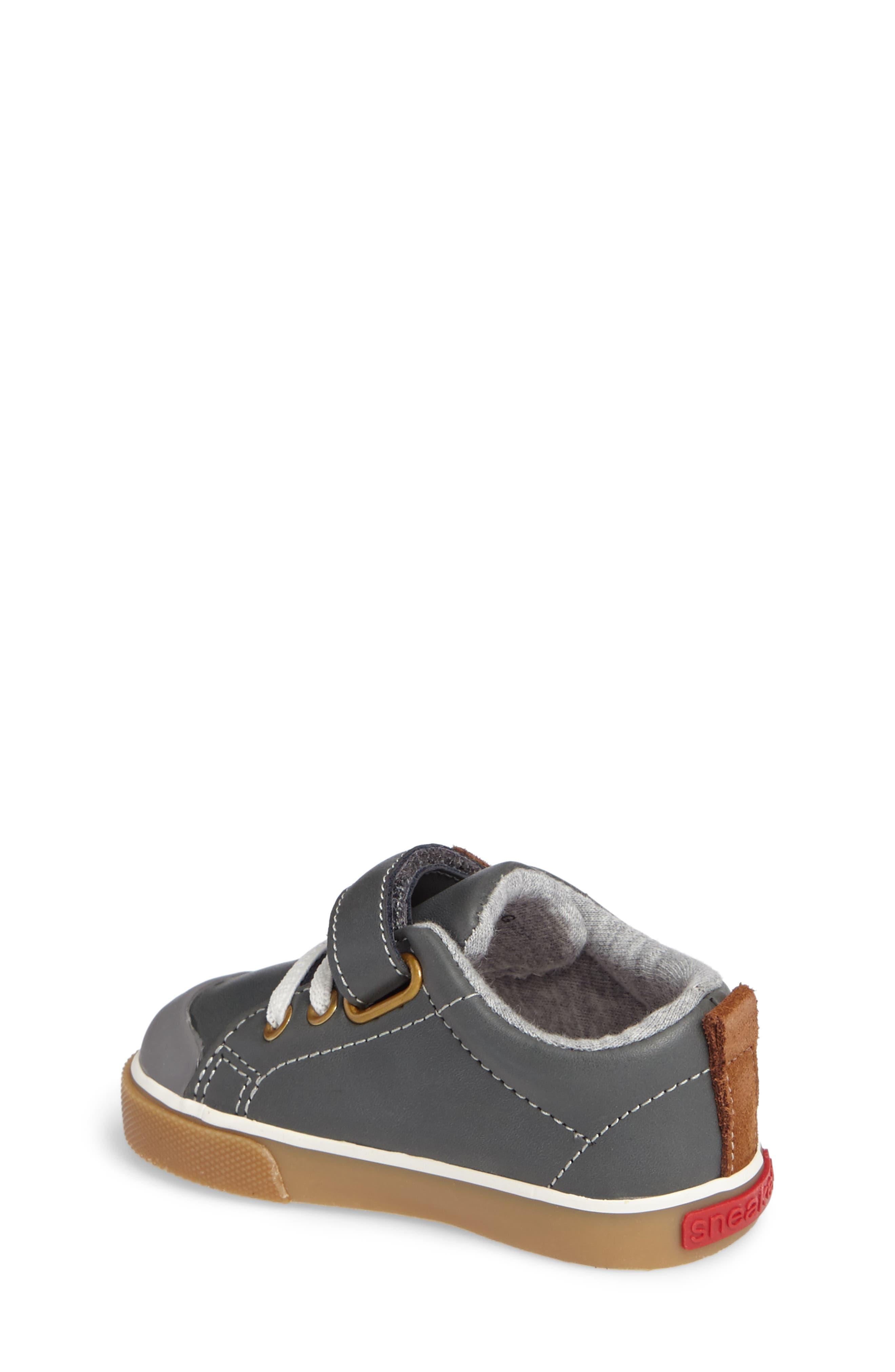 Stevie II Sneaker,                             Alternate thumbnail 2, color,                             GREY LEATHER