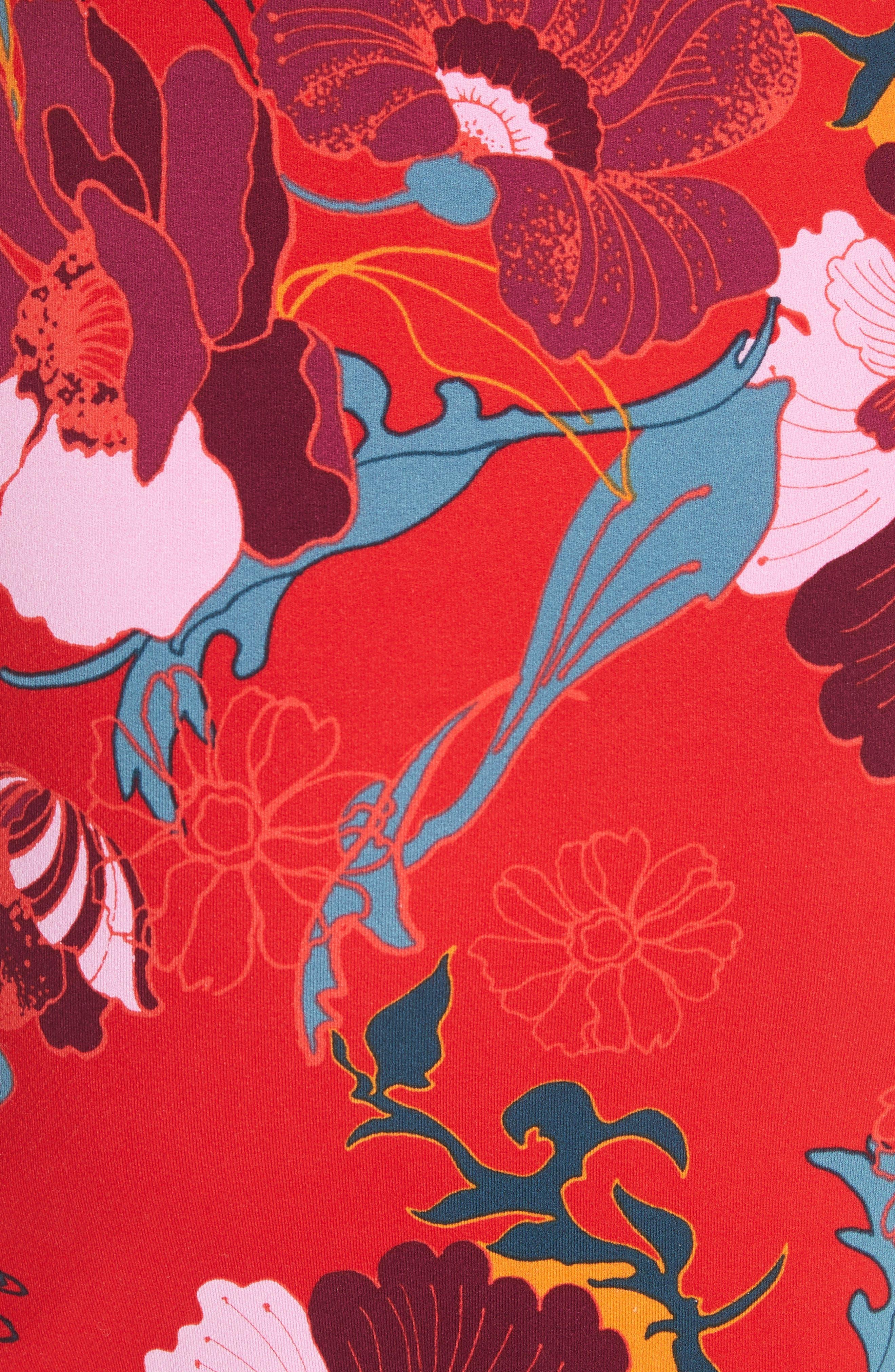 Sweet Cherry Front Tie Minidress,                             Alternate thumbnail 6, color,                             600