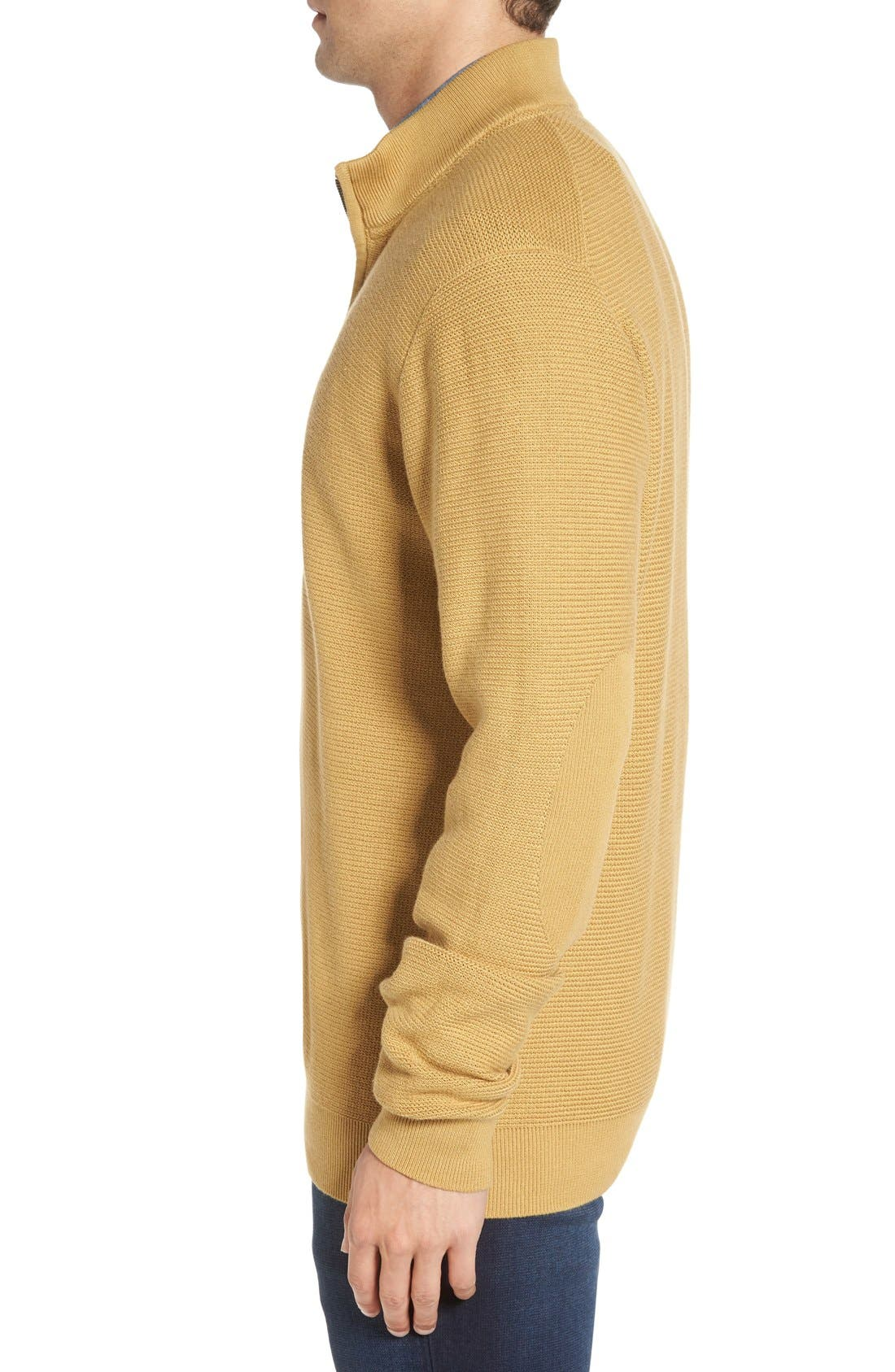 'Benson' Quarter Zip Textured Knit Sweater,                             Alternate thumbnail 15, color,