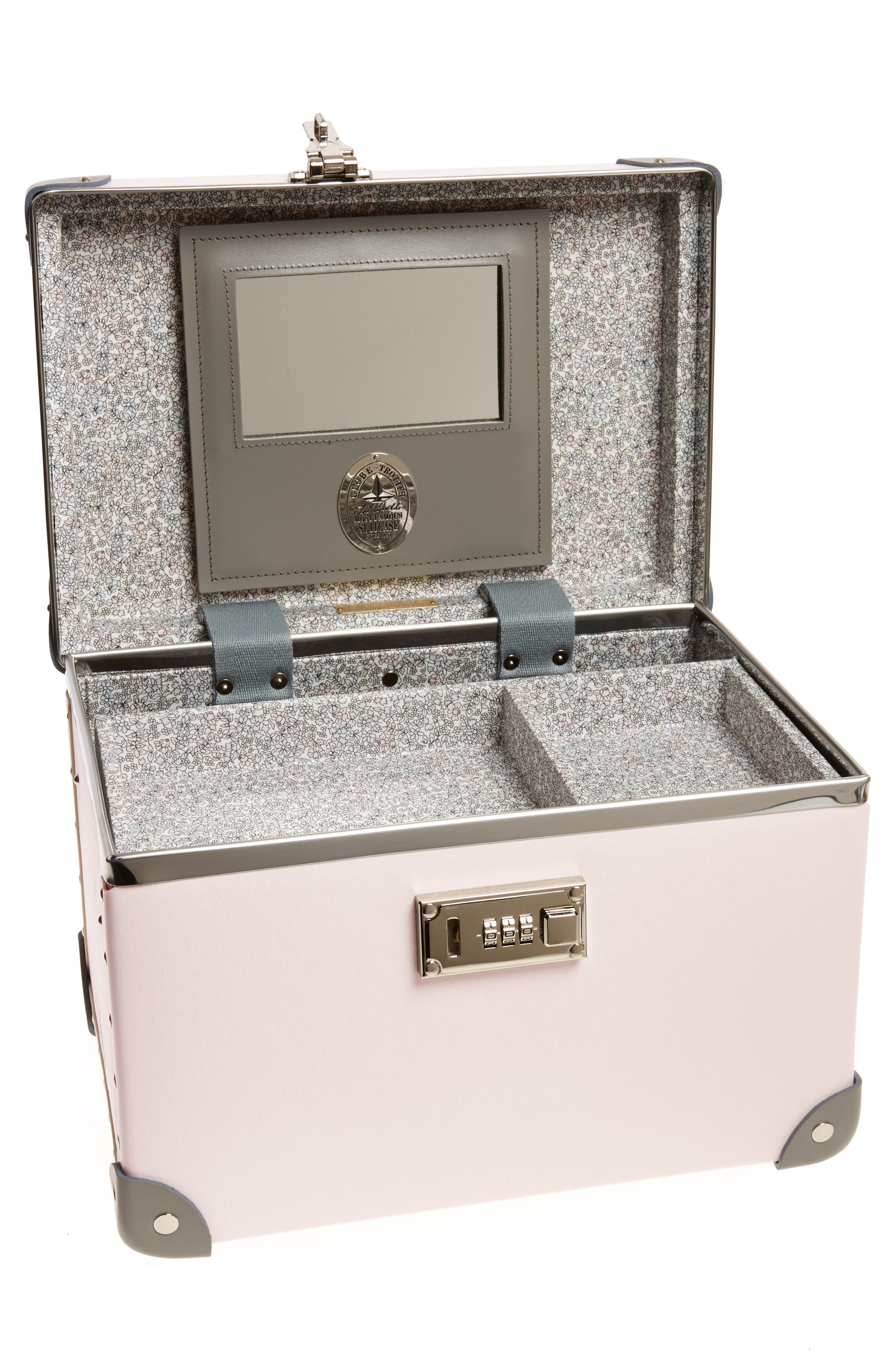 Blossom 13-Inch Vanity Case,                             Alternate thumbnail 2, color,                             PINK/GREY