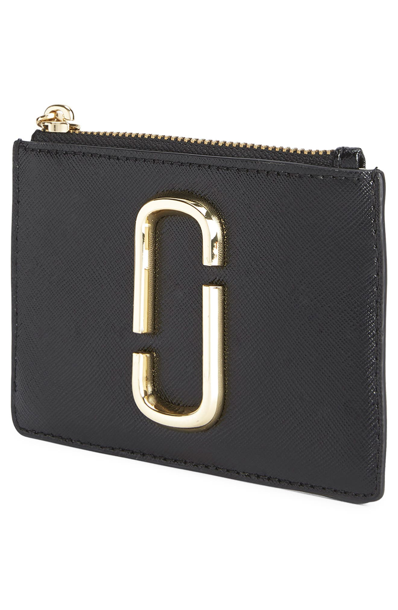 Snapshot Small Leather Wallet,                             Alternate thumbnail 5, color,                             BLACK MULTI