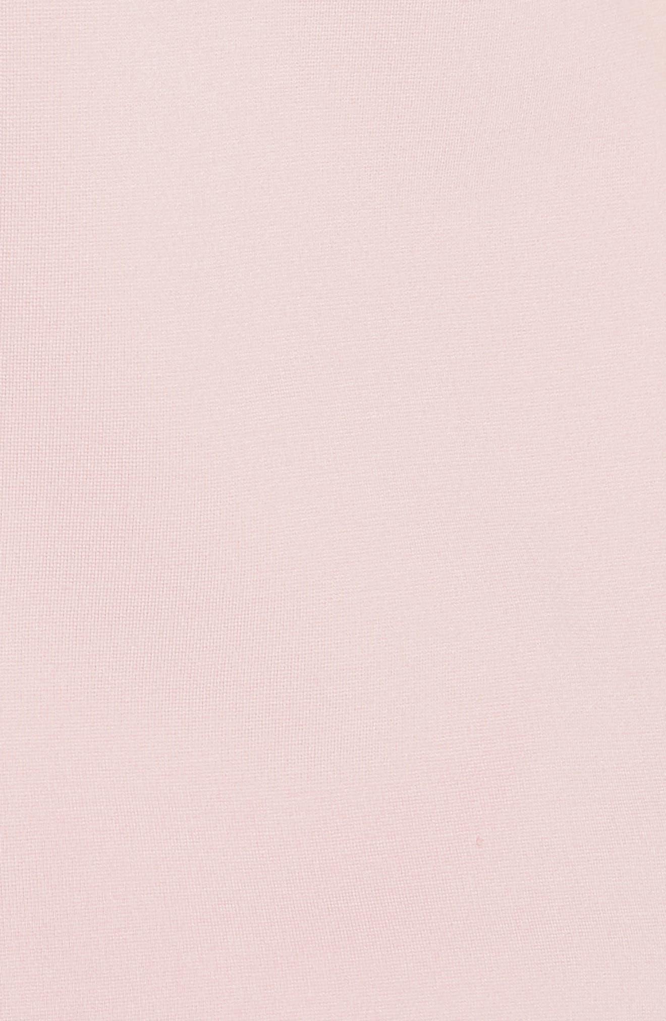 Joyous Bow Shoulder Top,                             Alternate thumbnail 5, color,                             DUSKY PINK