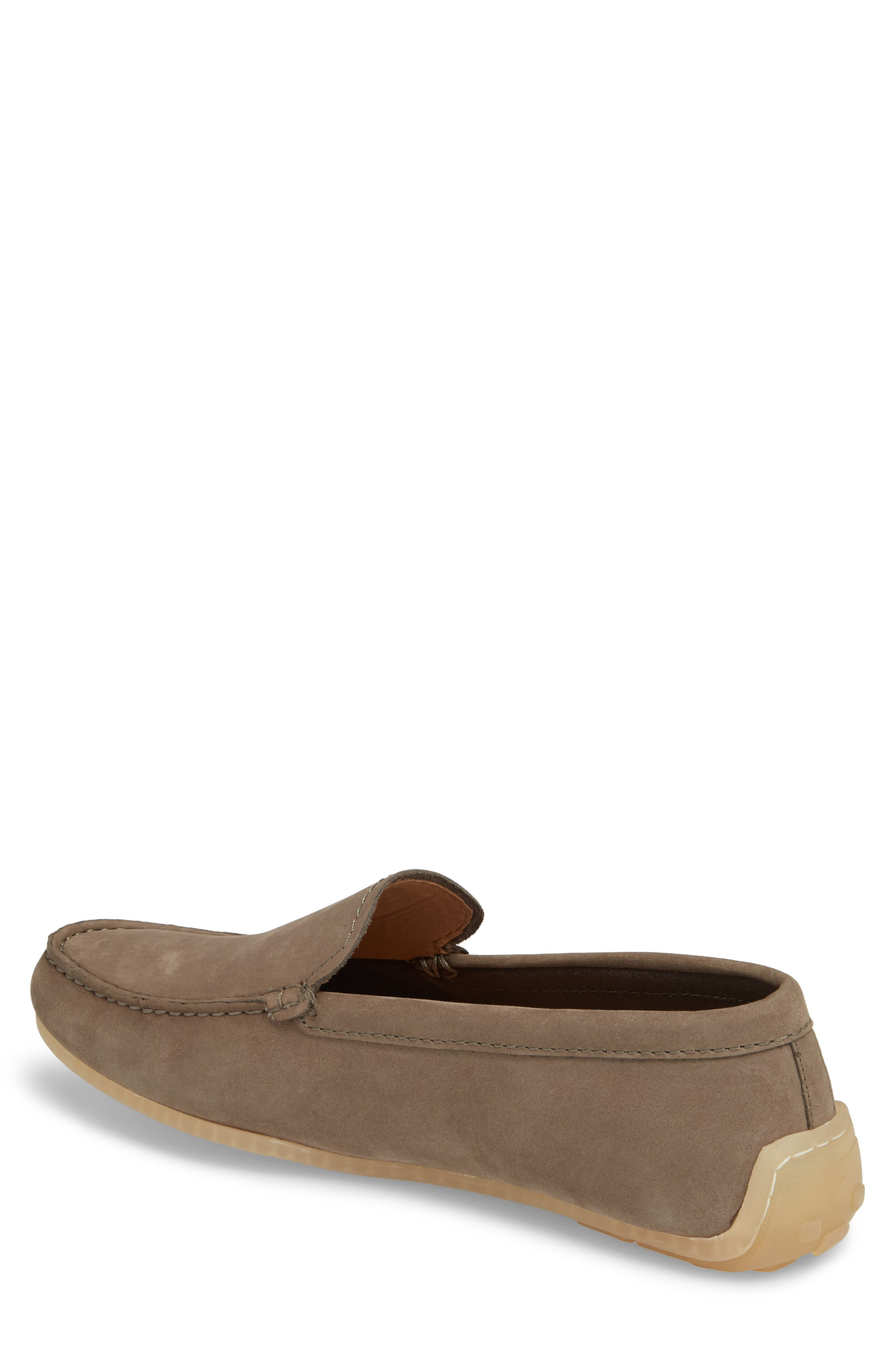 Clarks<sup>®</sup> Reazor Edge Driving Moccasin,                             Alternate thumbnail 2, color,                             SAGE NUBUCK